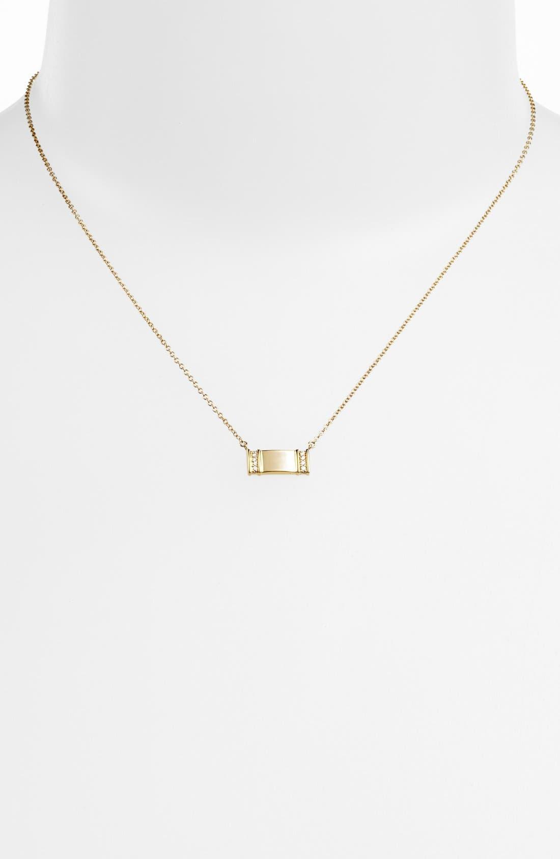 Alternate Image 2  - Kwiat 'Mollie Faith' Small Tablet Pendant Necklace