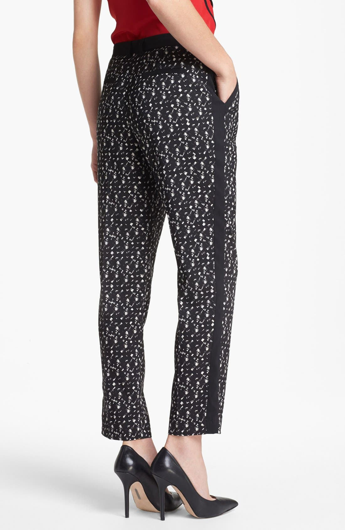 Alternate Image 3  - Vince Camuto Pleated Tuxedo Stripe Print Pants