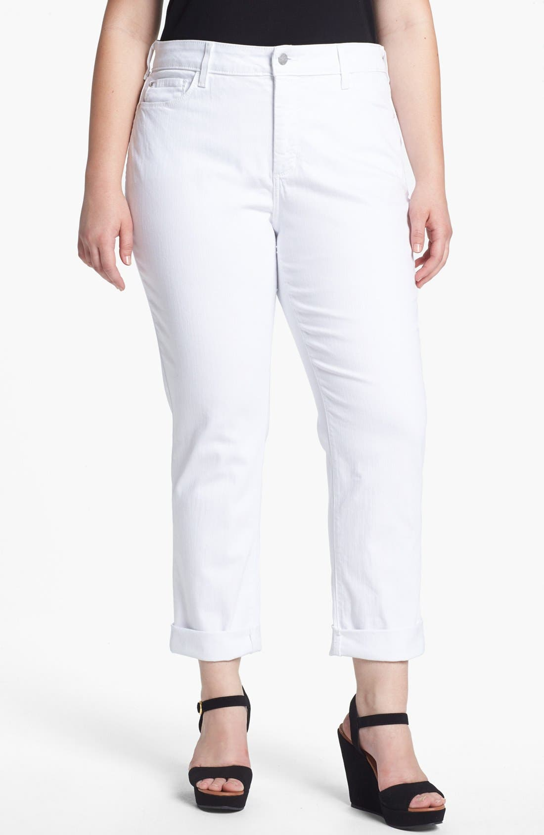 Alternate Image 1 Selected - NYDJ 'Tanya' Cuff Boyfriend Jeans (Plus Size)