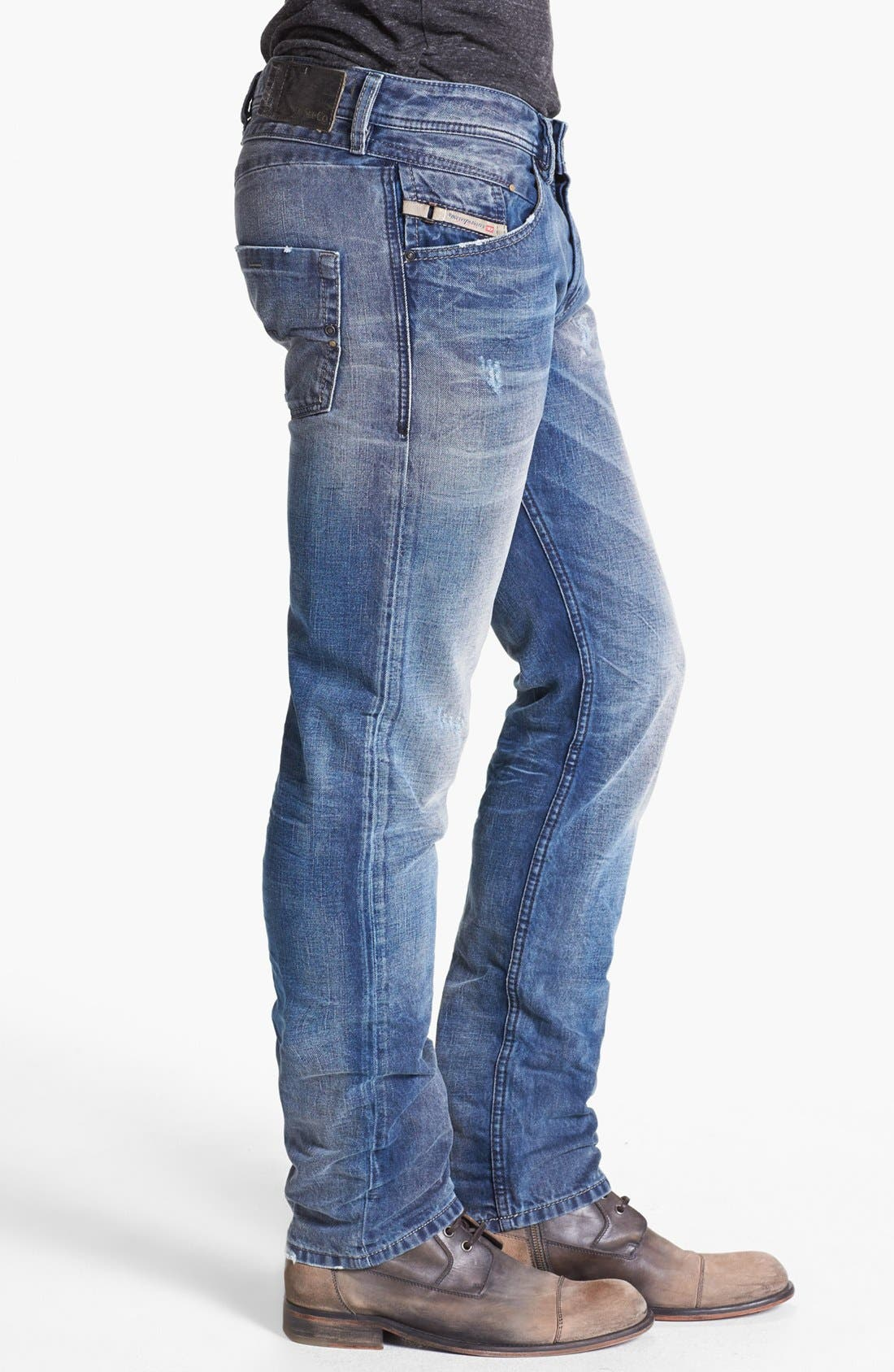 Alternate Image 3  - DIESEL® 'Belther' Slim Fit Jeans (0816J)