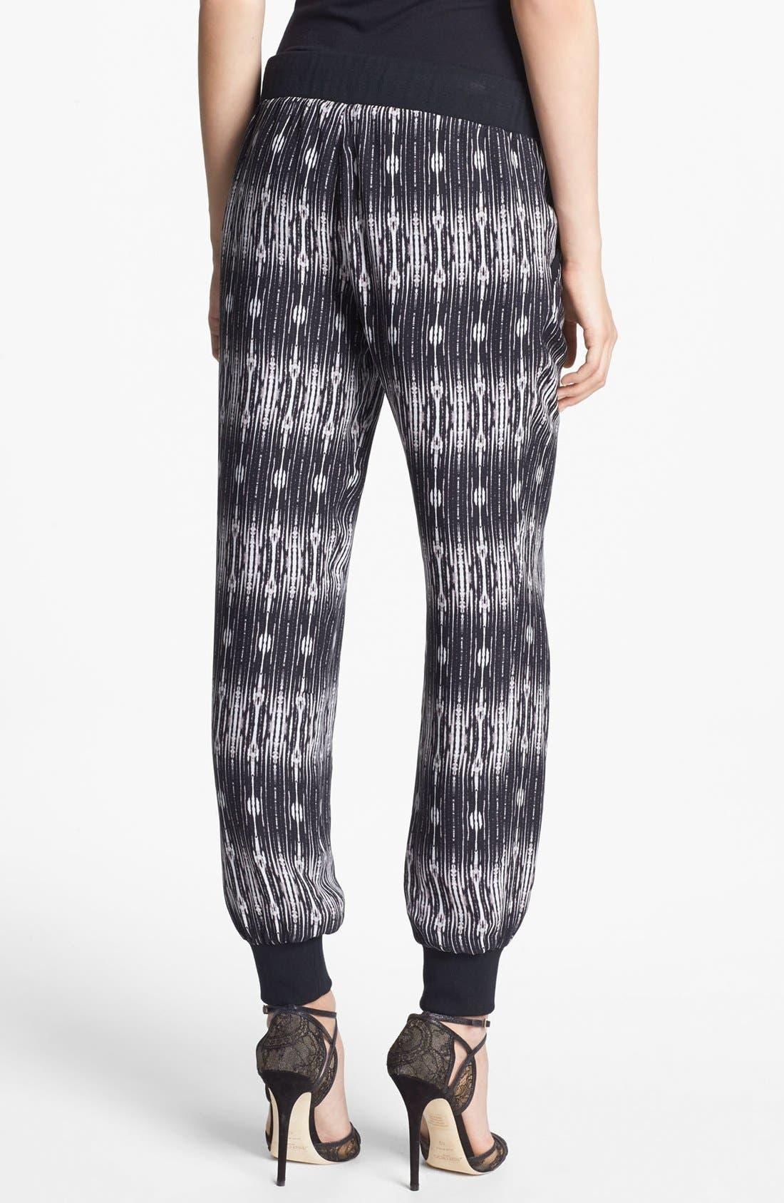 Alternate Image 2  - Haute Hippie Print Silk Sweatpants