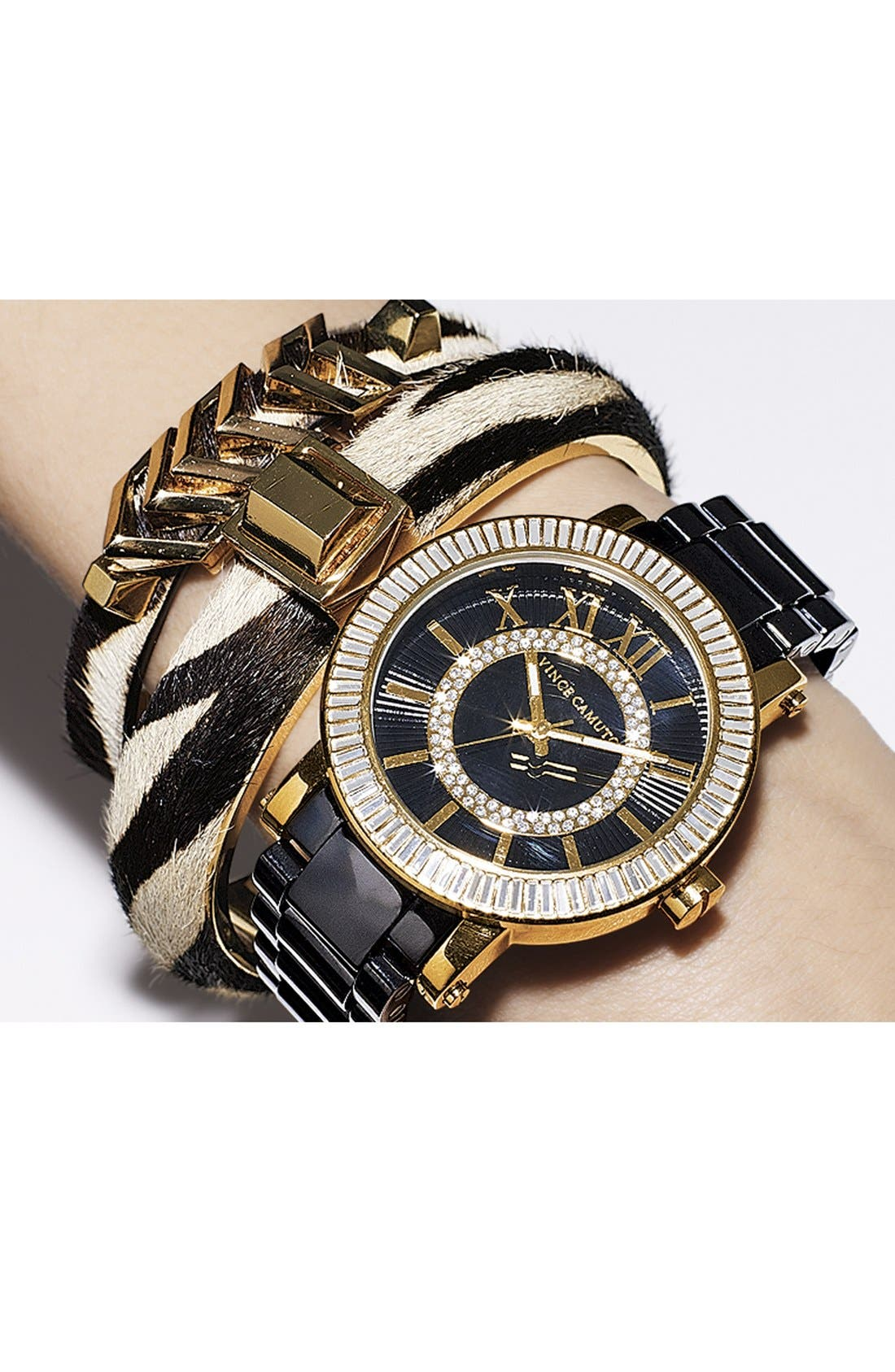 Alternate Image 4  - Vince Camuto Ceramic Bracelet Watch, 40mm
