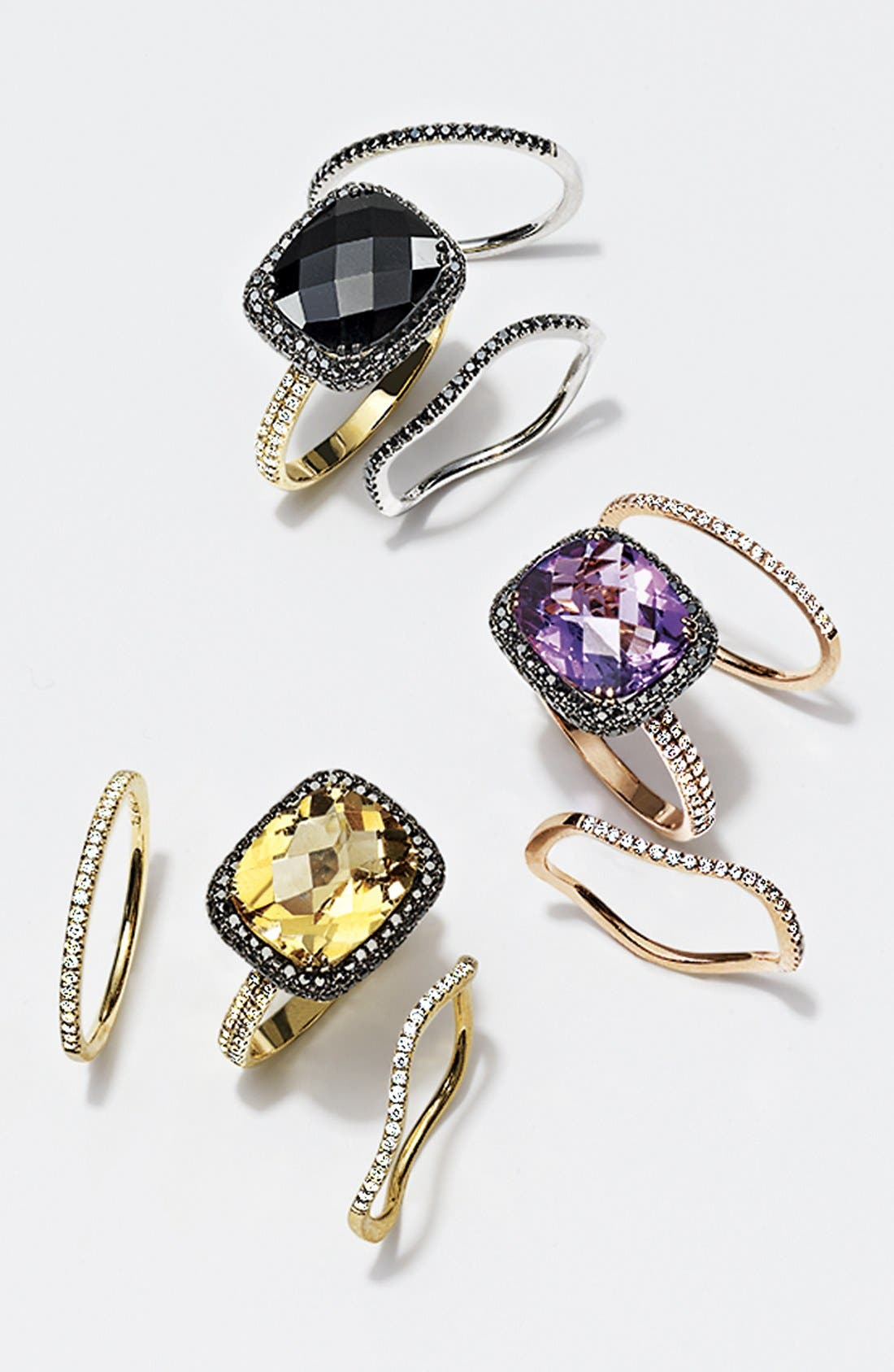 Alternate Image 2  - Bony Levy 'Iris' Diamond & Stone Cocktail Ring (Nordstrom Exclusive)