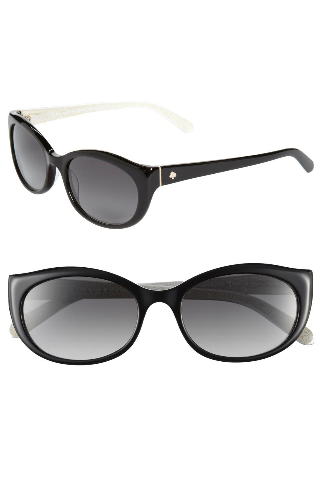 Alternate Image 1 Selected - kate spade new york 'phyllis' 52mm sunglasses