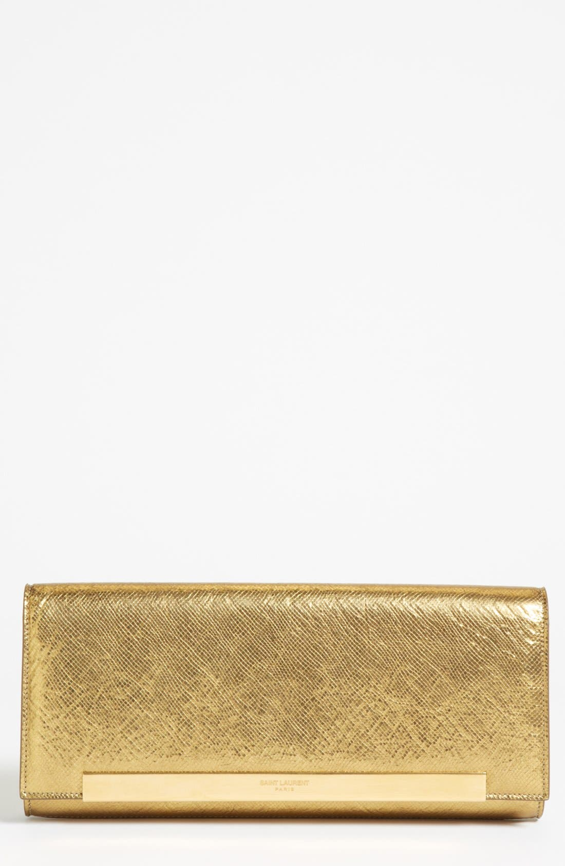 Alternate Image 1 Selected - Saint Laurent 'Lutetia - Antic' Leather Clutch