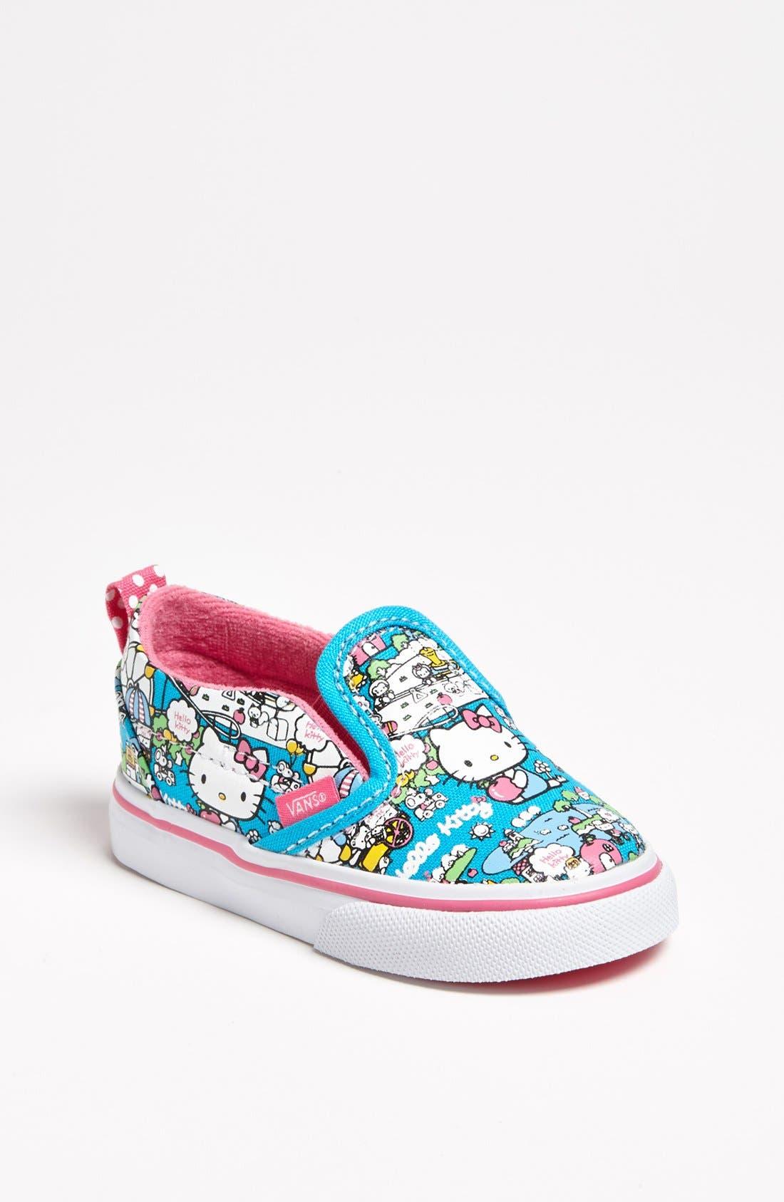 Alternate Image 1 Selected - Vans 'Classic - Hello Kitty®' Slip-On (Baby, Walker & Toddler)