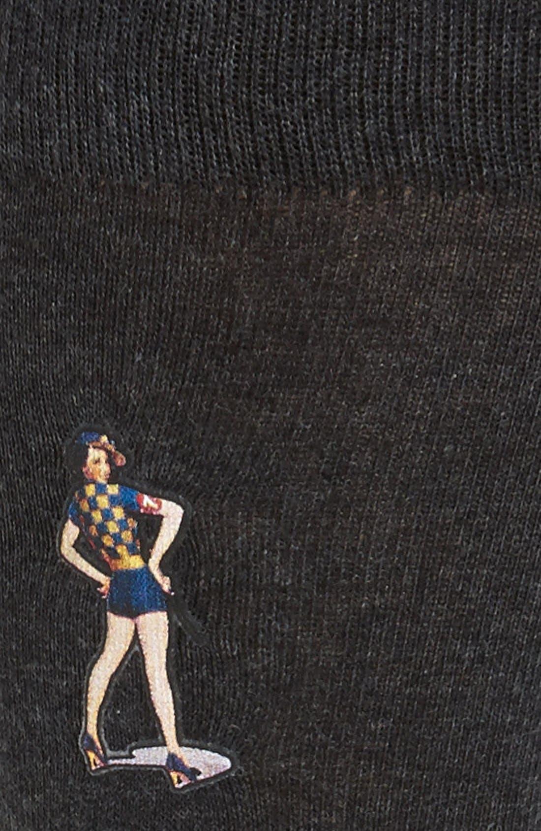 Alternate Image 2  - Lorenzo Uomo 'Pinup Girl' Socks