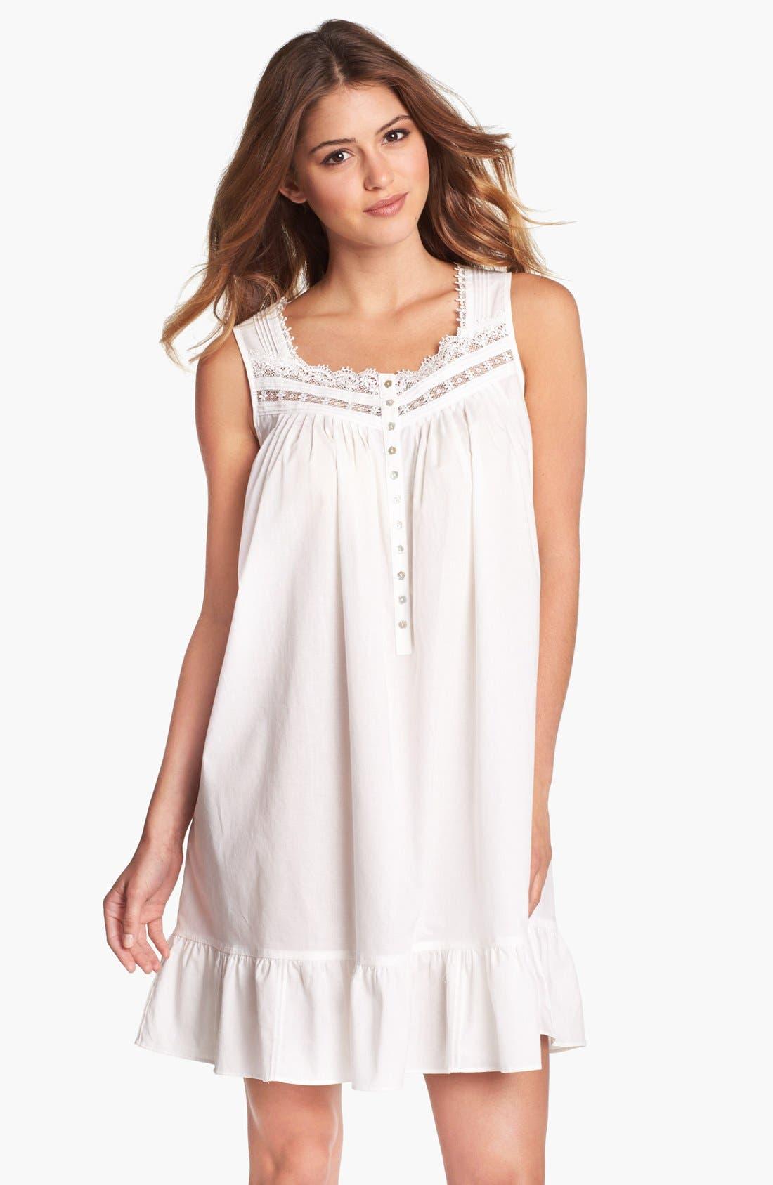 Main Image - Eileen West 'Victorian Romance' Short Nightgown (Online Exclusive)