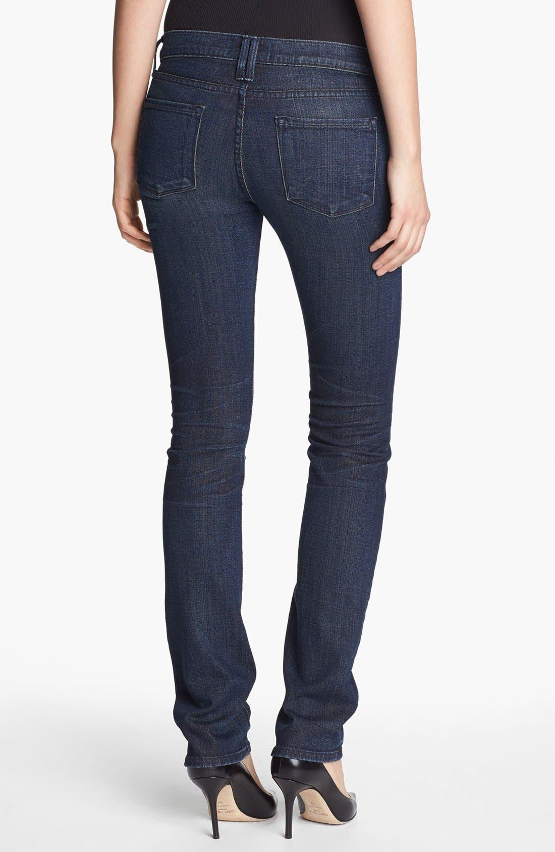 Alternate Image 2  - Vince Cigarette Leg Stretch Jeans (Dark Crimson Vintage)
