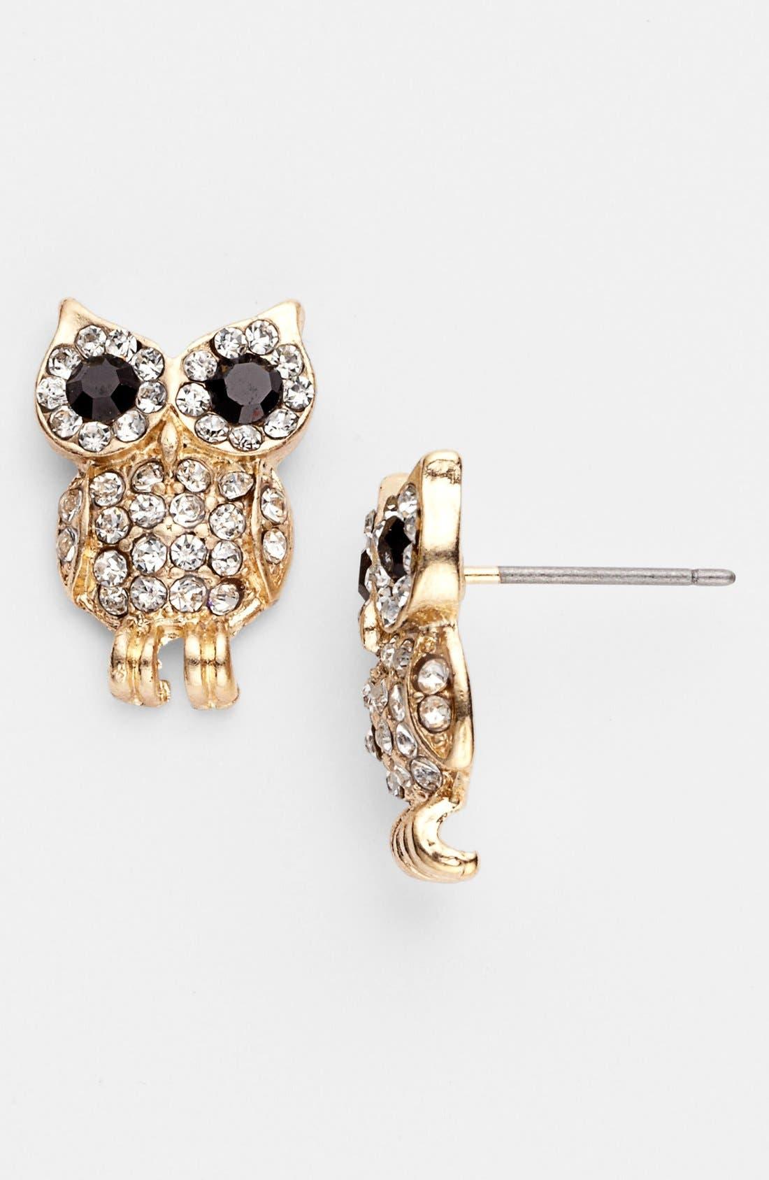 Main Image - Cara Couture 'Owl' Earrings
