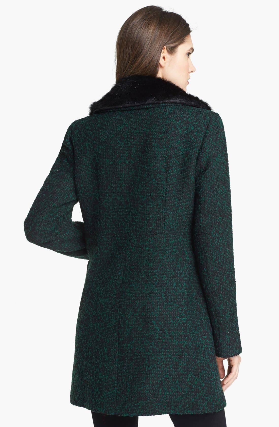 Alternate Image 2  - Ivanka Trump Detachable Faux Fur Collar Tweed Coat