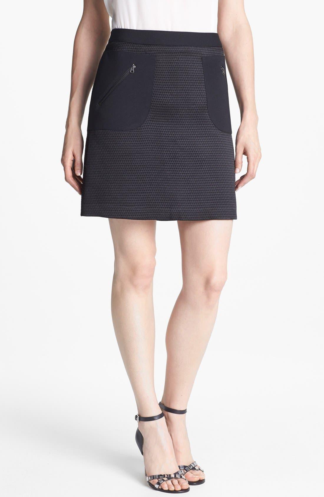 Alternate Image 1 Selected - Halogen® Jacquard A-Line Skirt