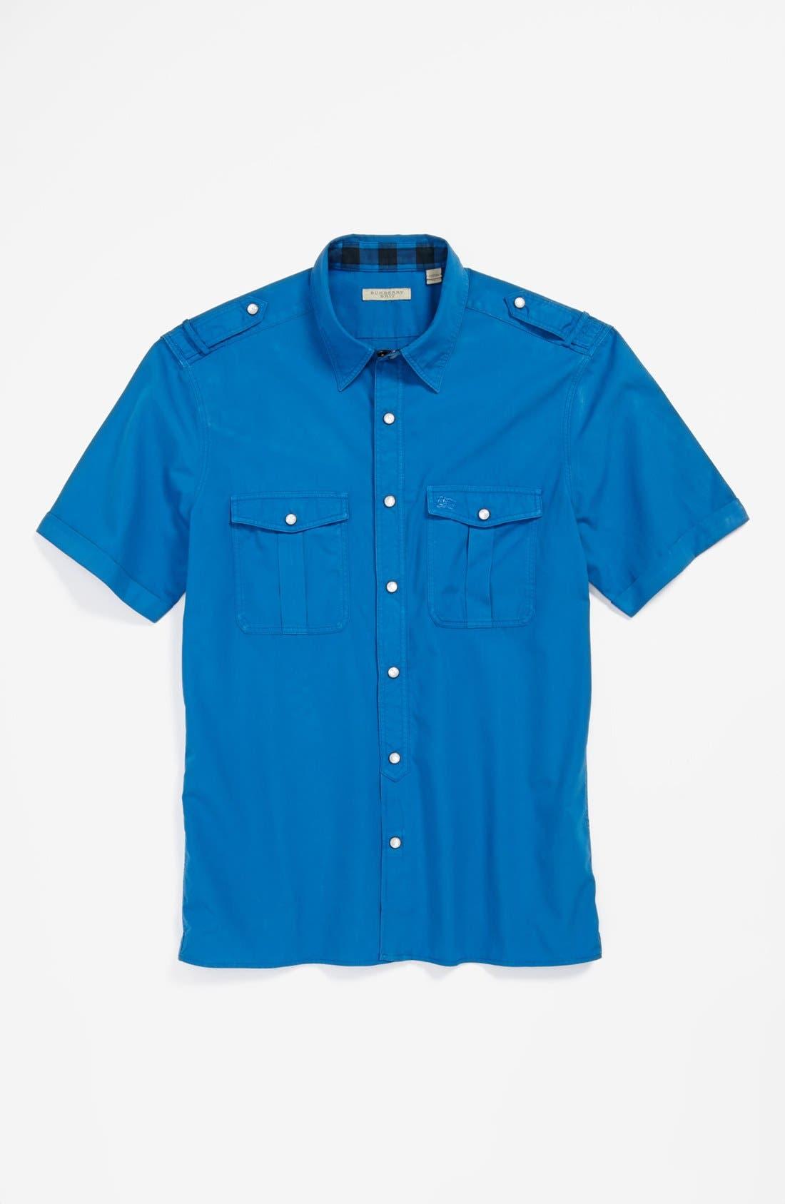 Alternate Image 4  - Burberry Brit 'Keeling' Short Sleeve Sport Shirt