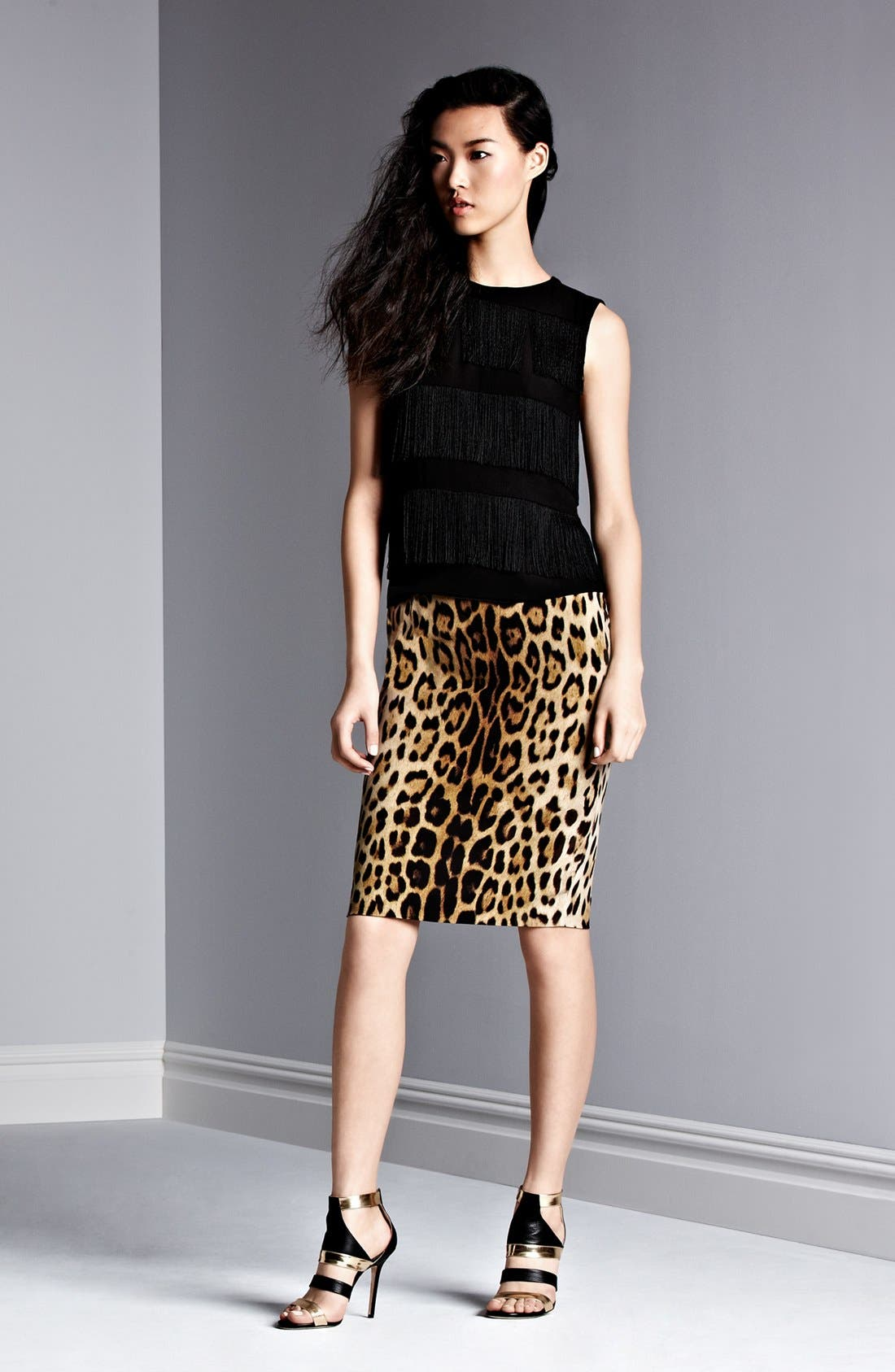 Alternate Image 4  - Moschino Cheap & Chic Leopard Print Pencil Skirt