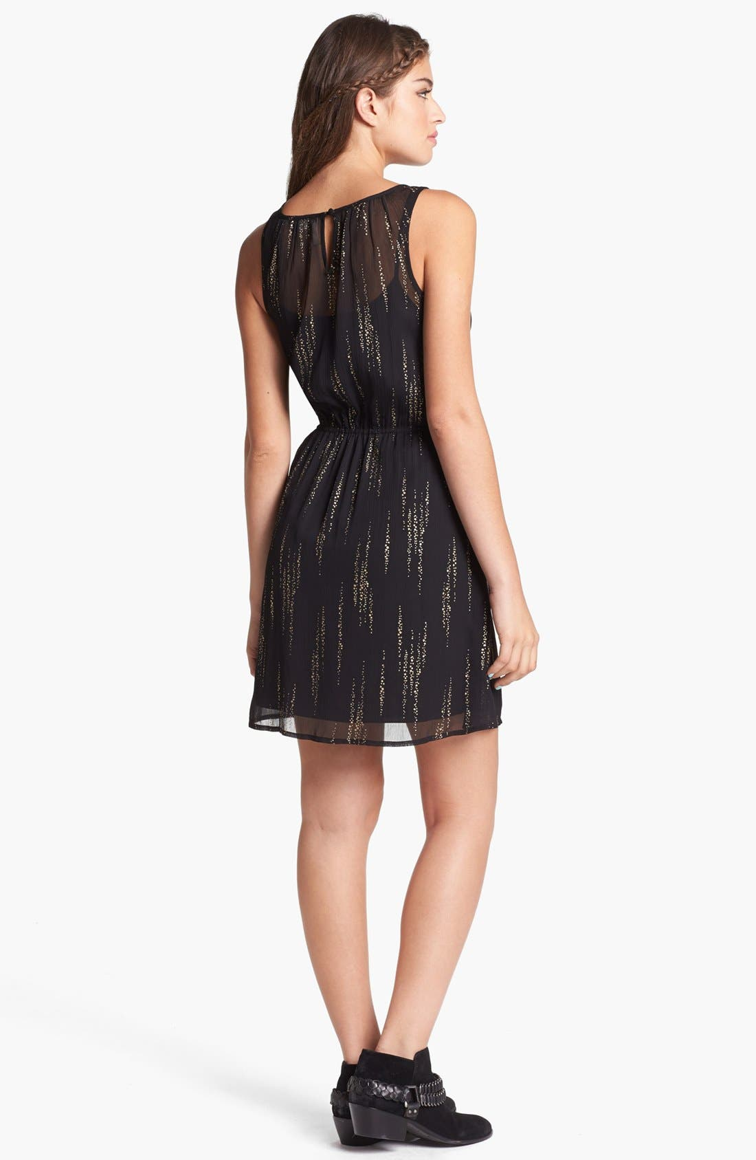 Alternate Image 2  - Frenchi® Metallic Print Dress (Juniors)