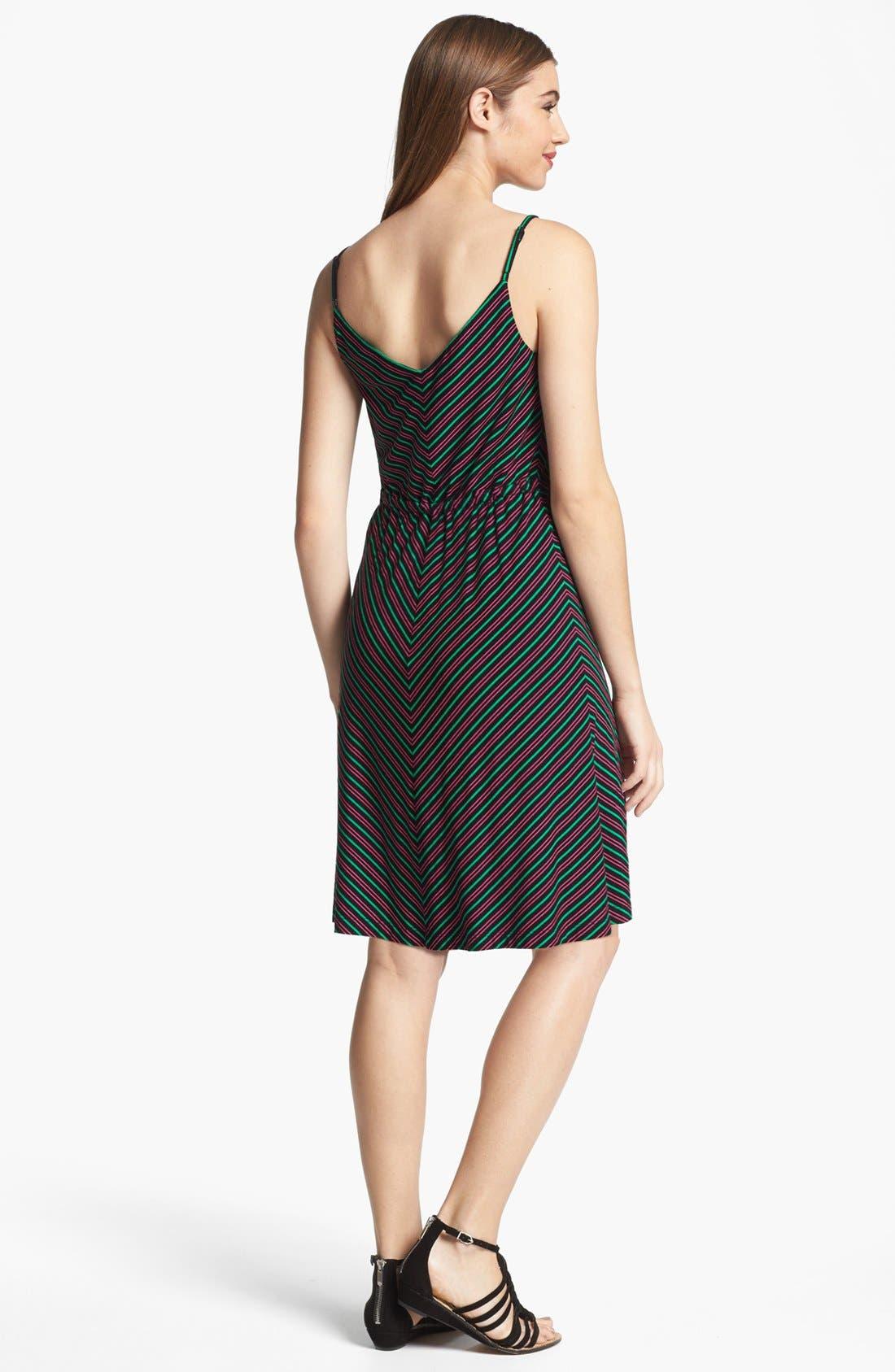 Alternate Image 2  - Calvin Klein Stripe Knit Fit & Flare Dress
