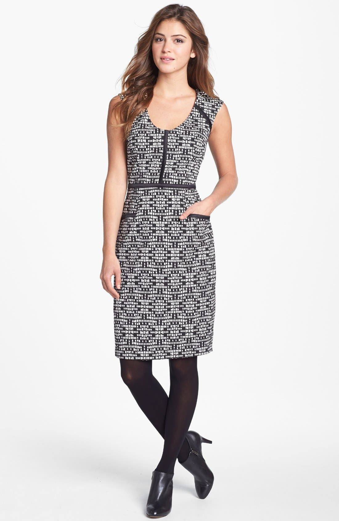 Alternate Image 4  - Adrianna Papell Jacquard Sheath Dress