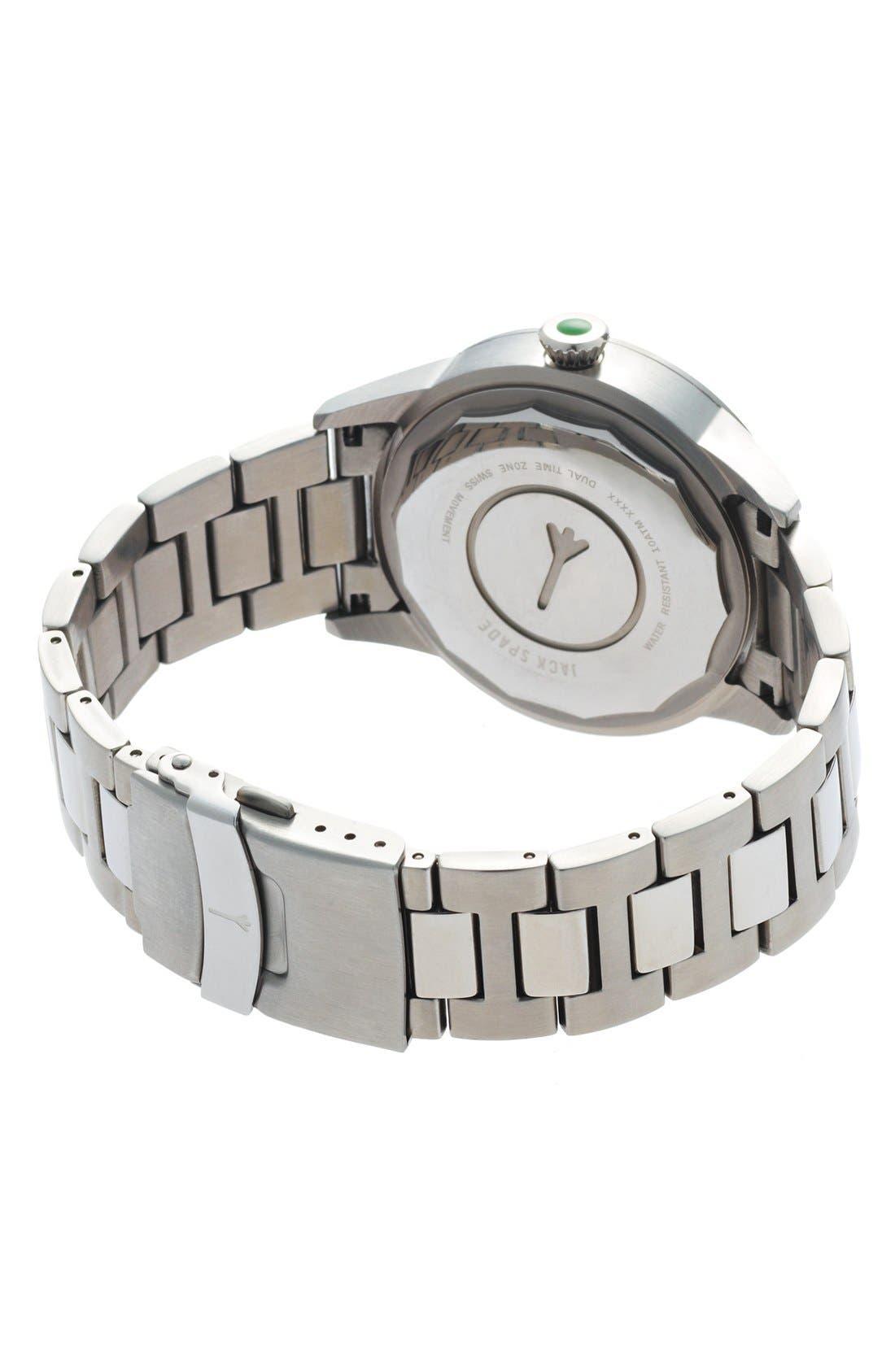 Alternate Image 2  - Jack Spade 'Glenwood' Bracelet Watch, 42mm