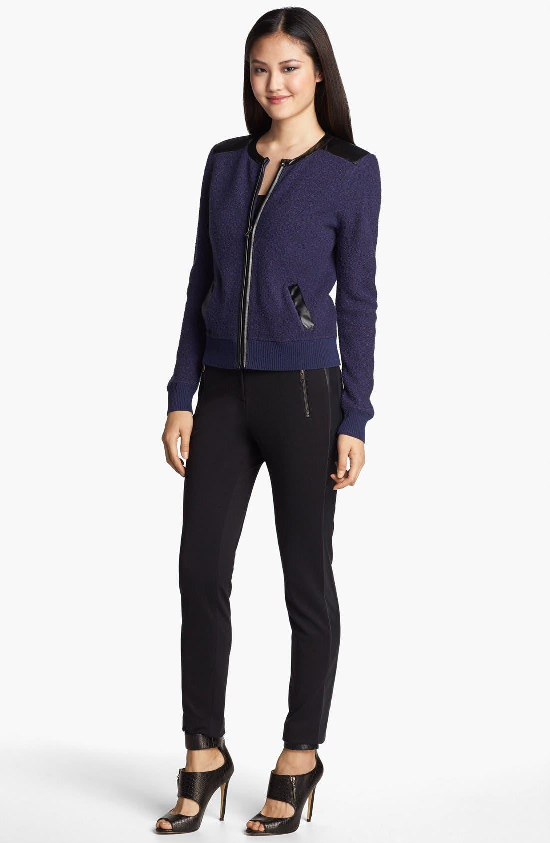 Alternate Image 4  - Halogen® Bouclé Knit Bomber Jacket