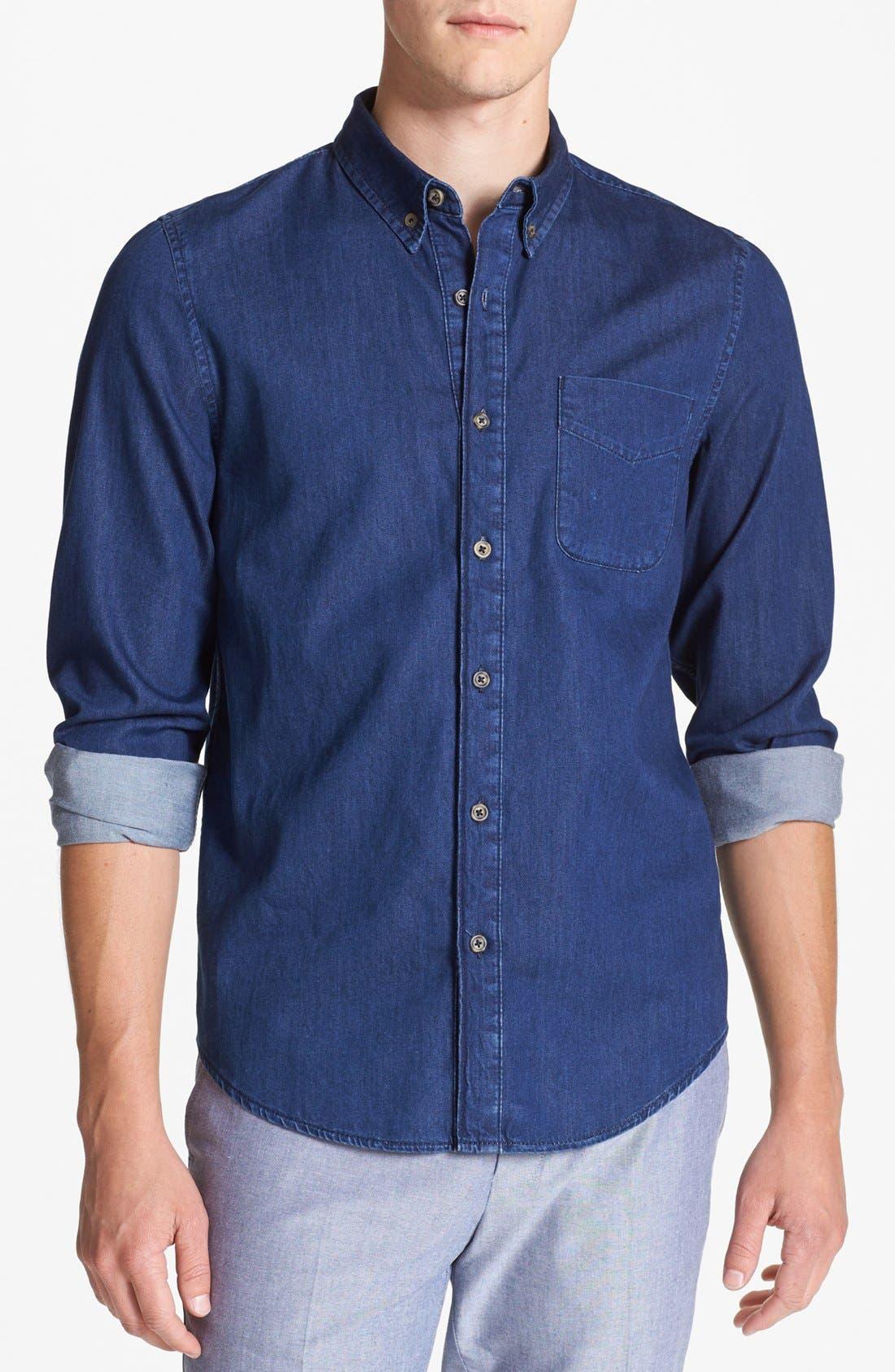 Alternate Image 1 Selected - Topman Indigo Shirt