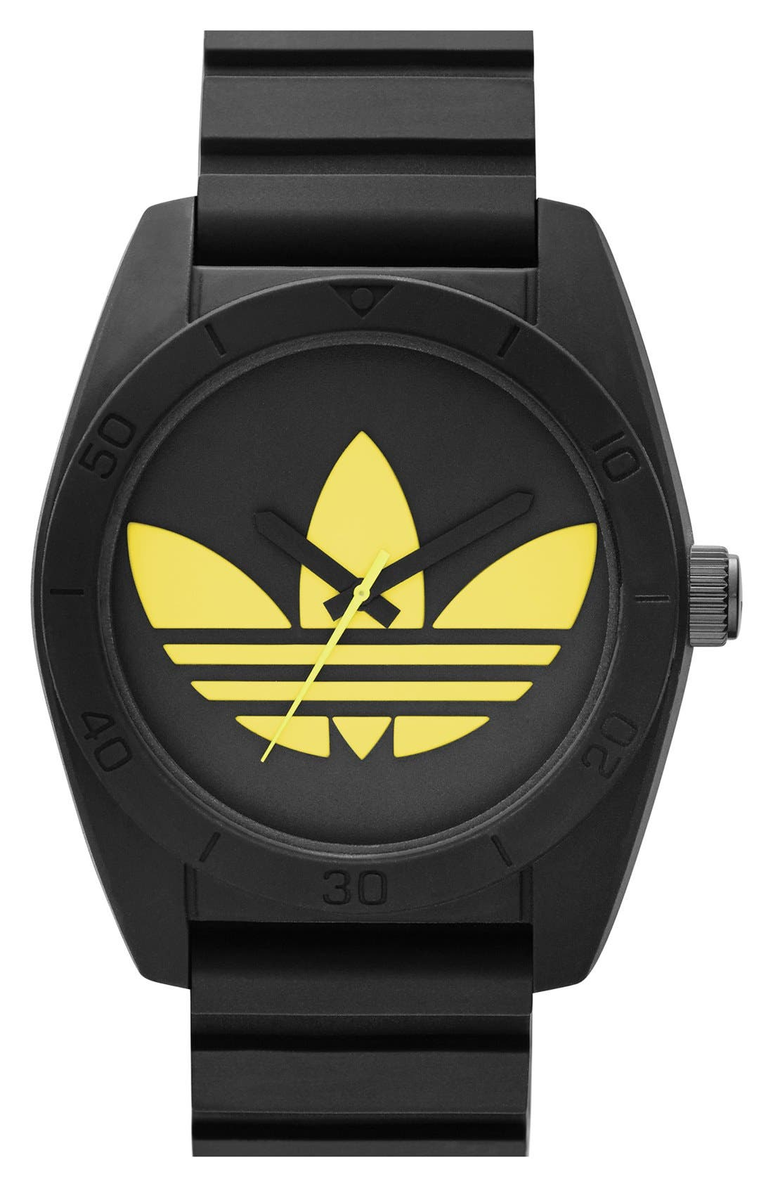 Alternate Image 1 Selected - adidas Originals 'Santiago' Silicone Strap Watch, 42mm