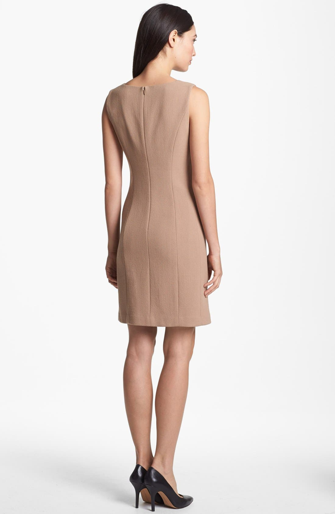 Alternate Image 2  - Lafayette 148 New York 'Evelyn - Riche Crepe' Sheath Dress