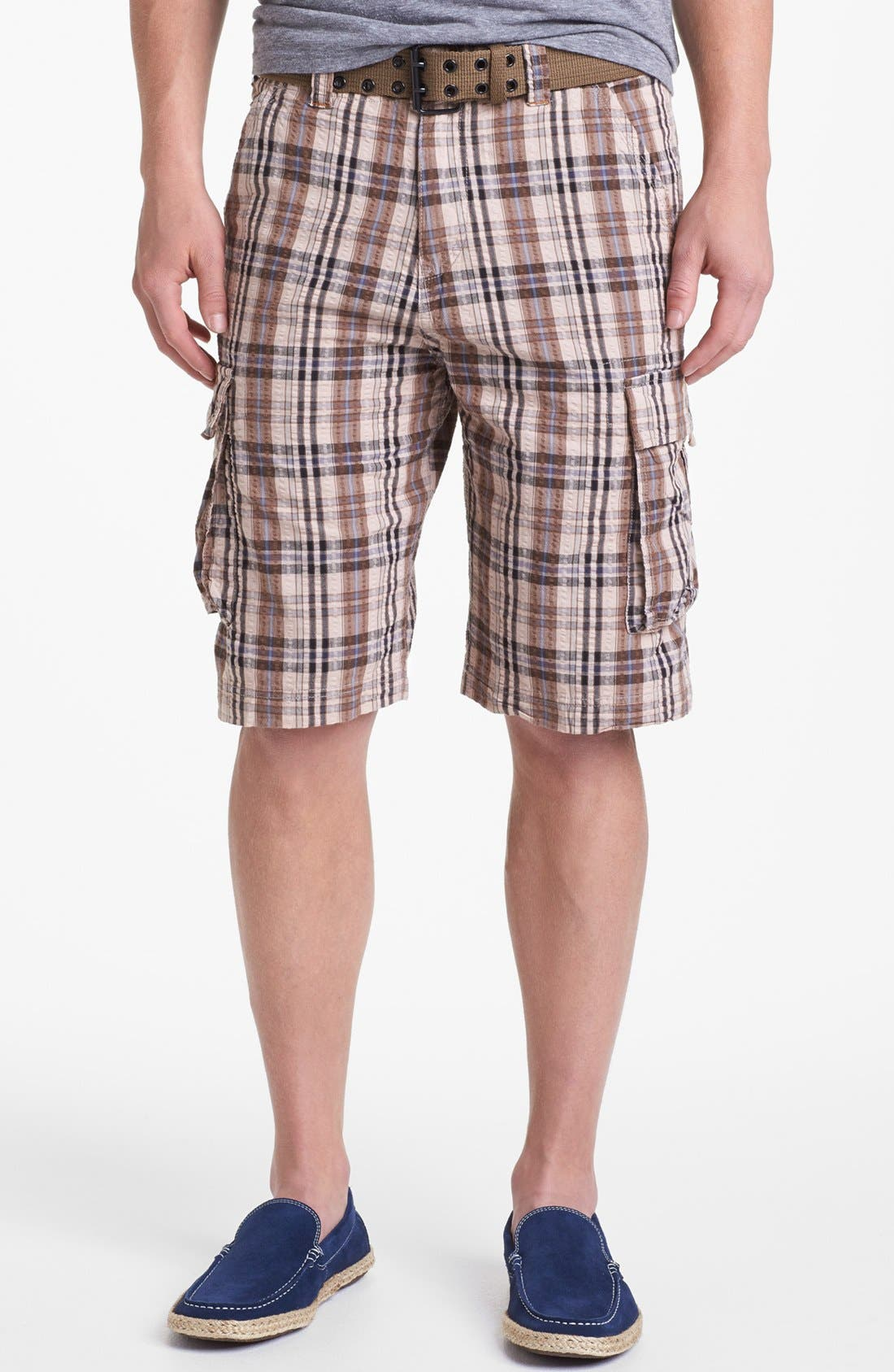 Alternate Image 1  - W.R.K 'Wainscott' Seersucker Cargo Shorts