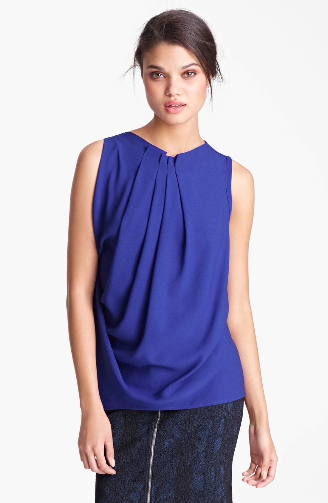 Main Image - Yigal Azrouël Sleeveless Silk Georgette Blouse