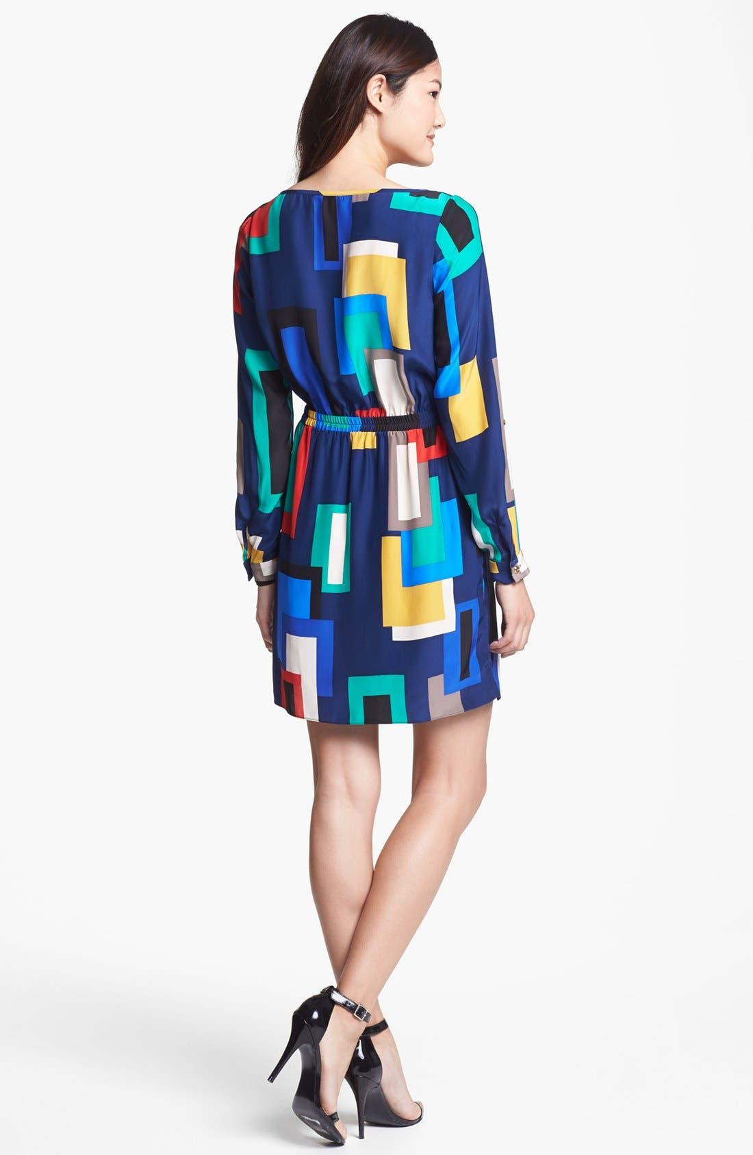 Alternate Image 2  - ALICE & TRIXIE 'Danielle' Print Silk Shirtdress