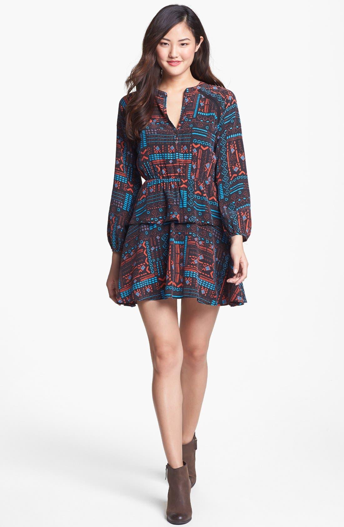 Main Image - Dolce Vita Print Tiered Silk Dress