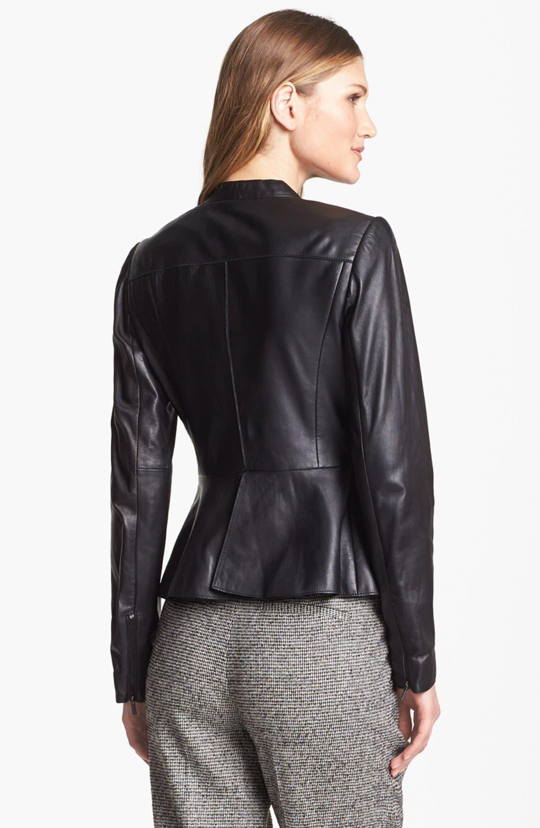 Alternate Image 2  - Classiques Entier® 'Lamb Moss' Leather Jacket
