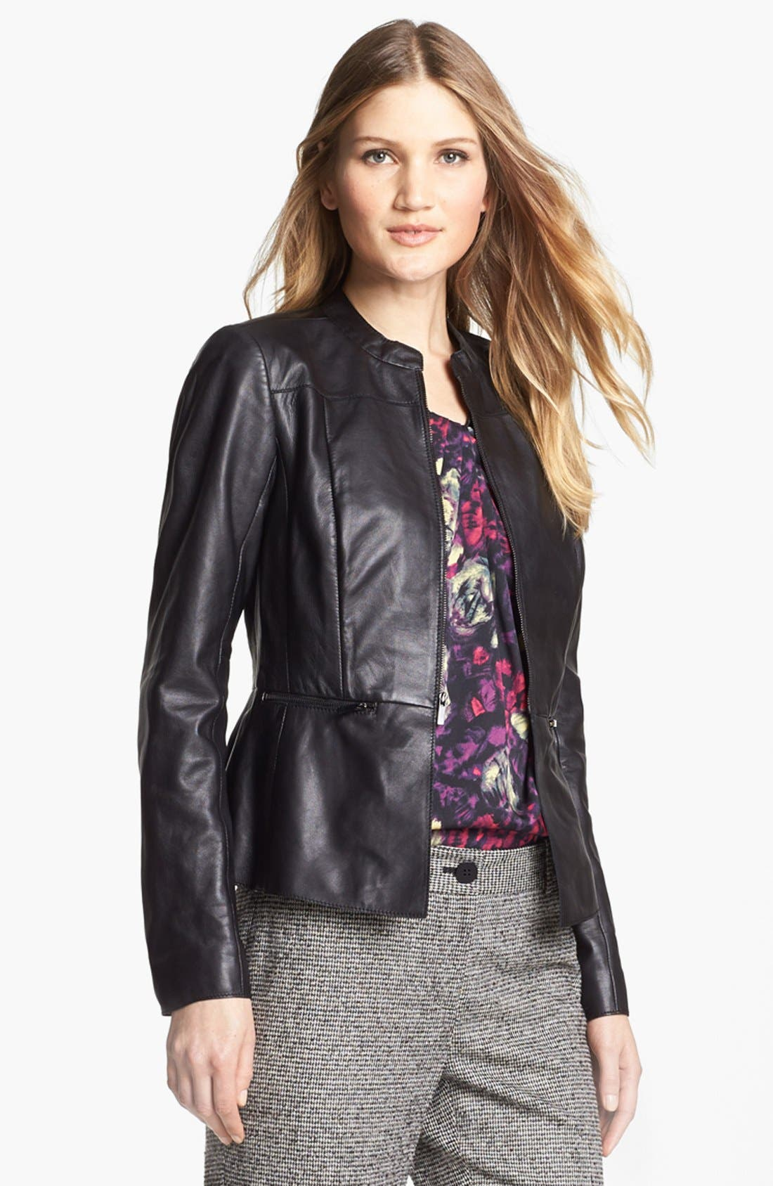 Alternate Image 1 Selected - Classiques Entier® 'Lamb Moss' Leather Jacket