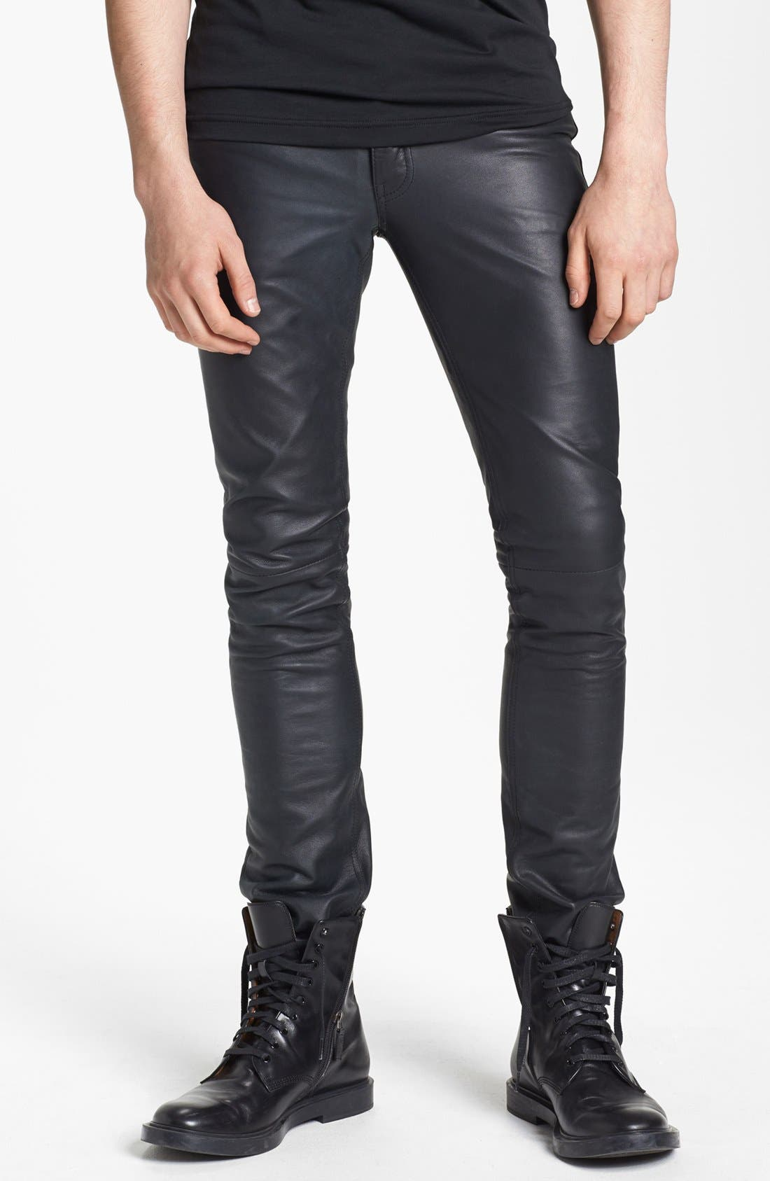 Main Image - BLK DNM 'Rock N Roll' Skinny Fit Leather Pants