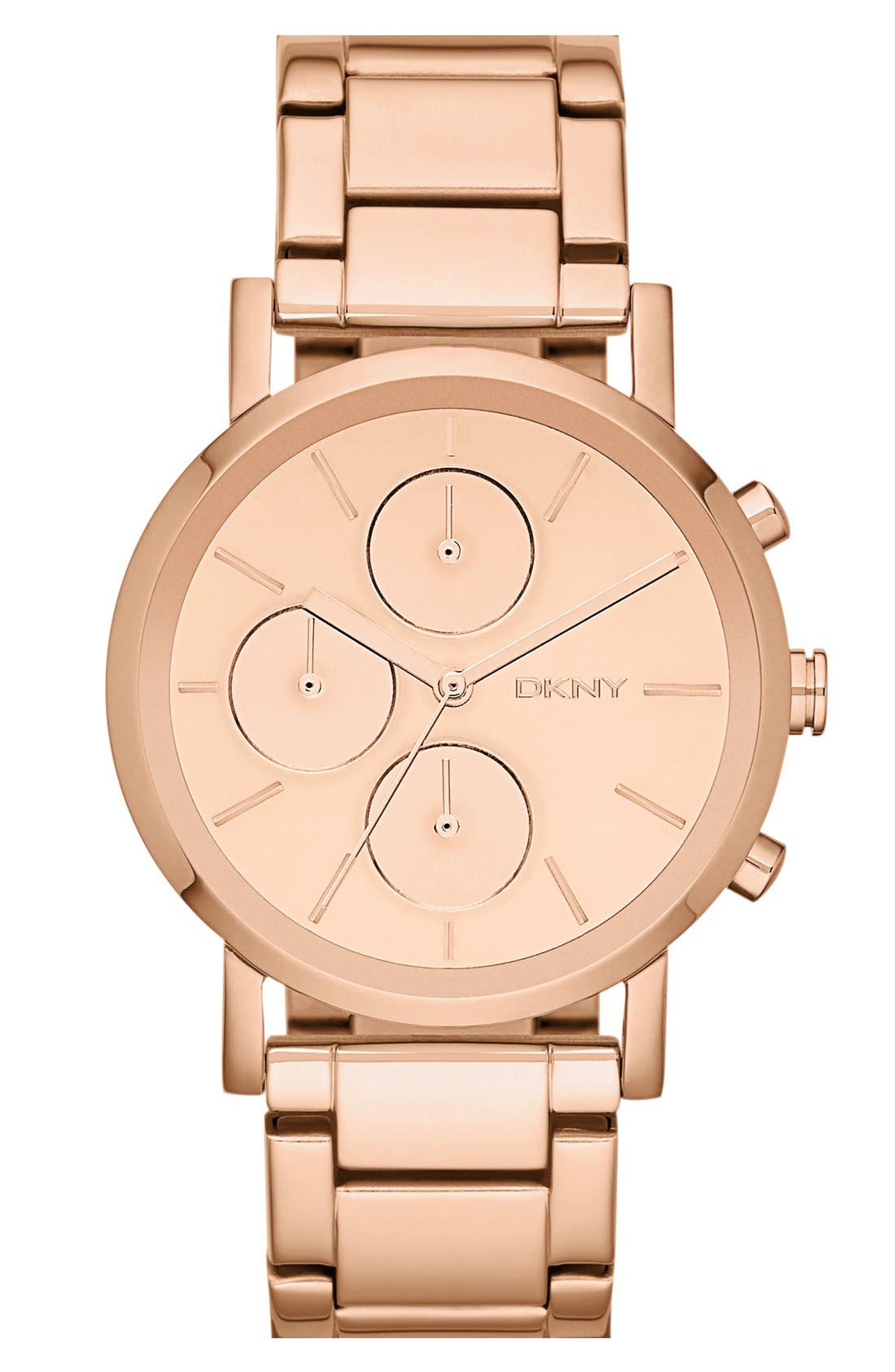 Alternate Image 1 Selected - DKNY Mirror Dial Chronograph Bracelet Watch, 38mm