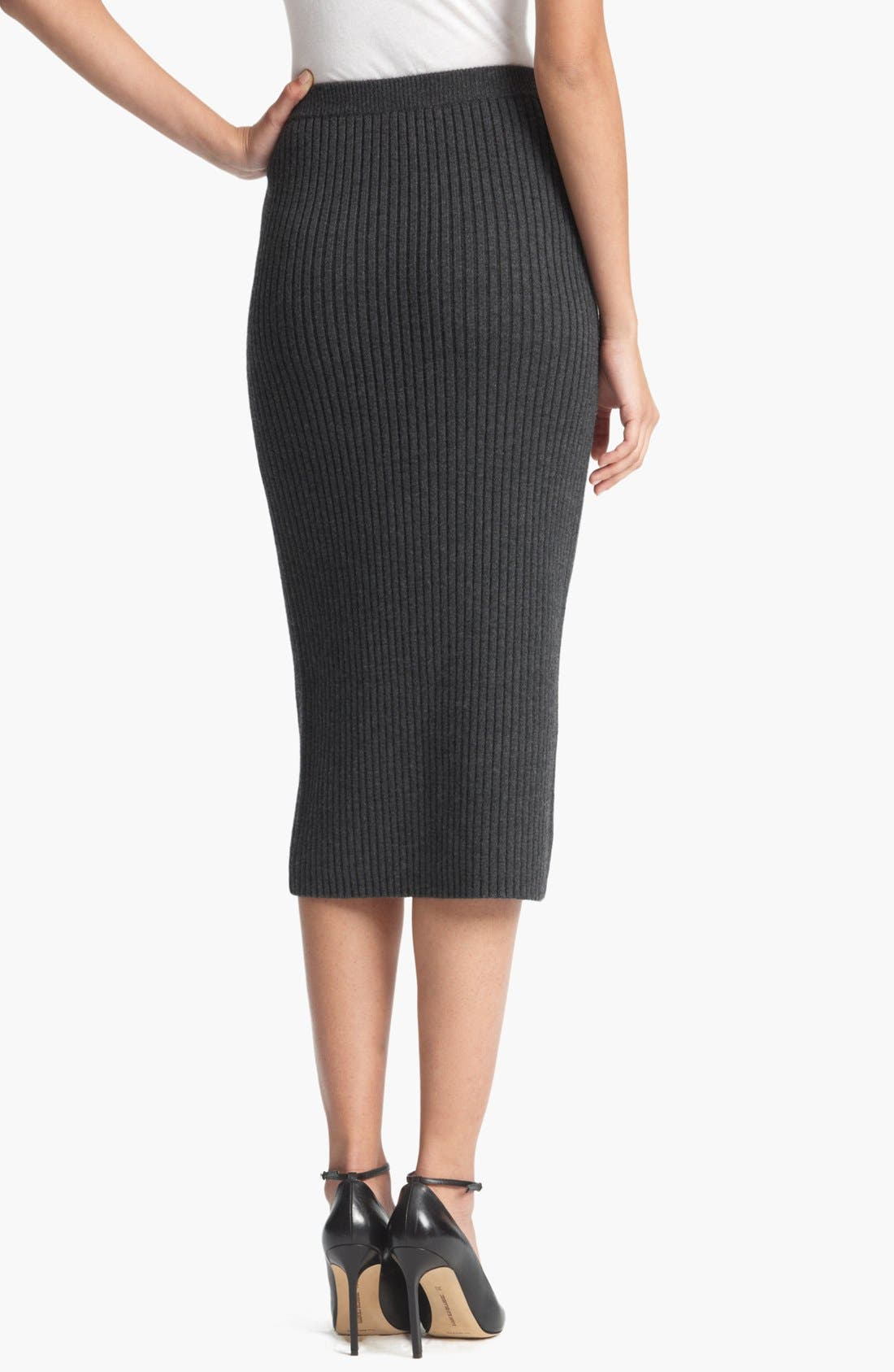 Alternate Image 2  - Michael Kors Ribbed Tube Skirt
