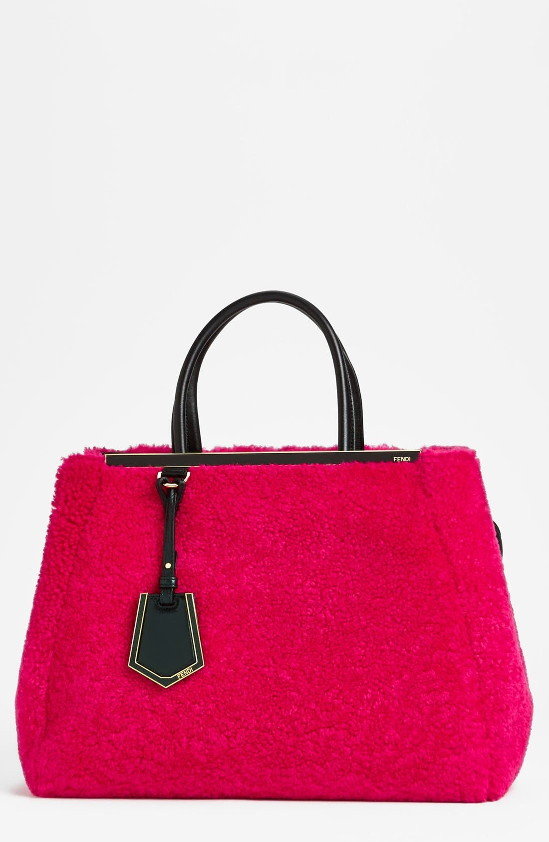 Alternate Image 1 Selected - Fendi '2Jours' Genuine Shearling & Leather Shopper