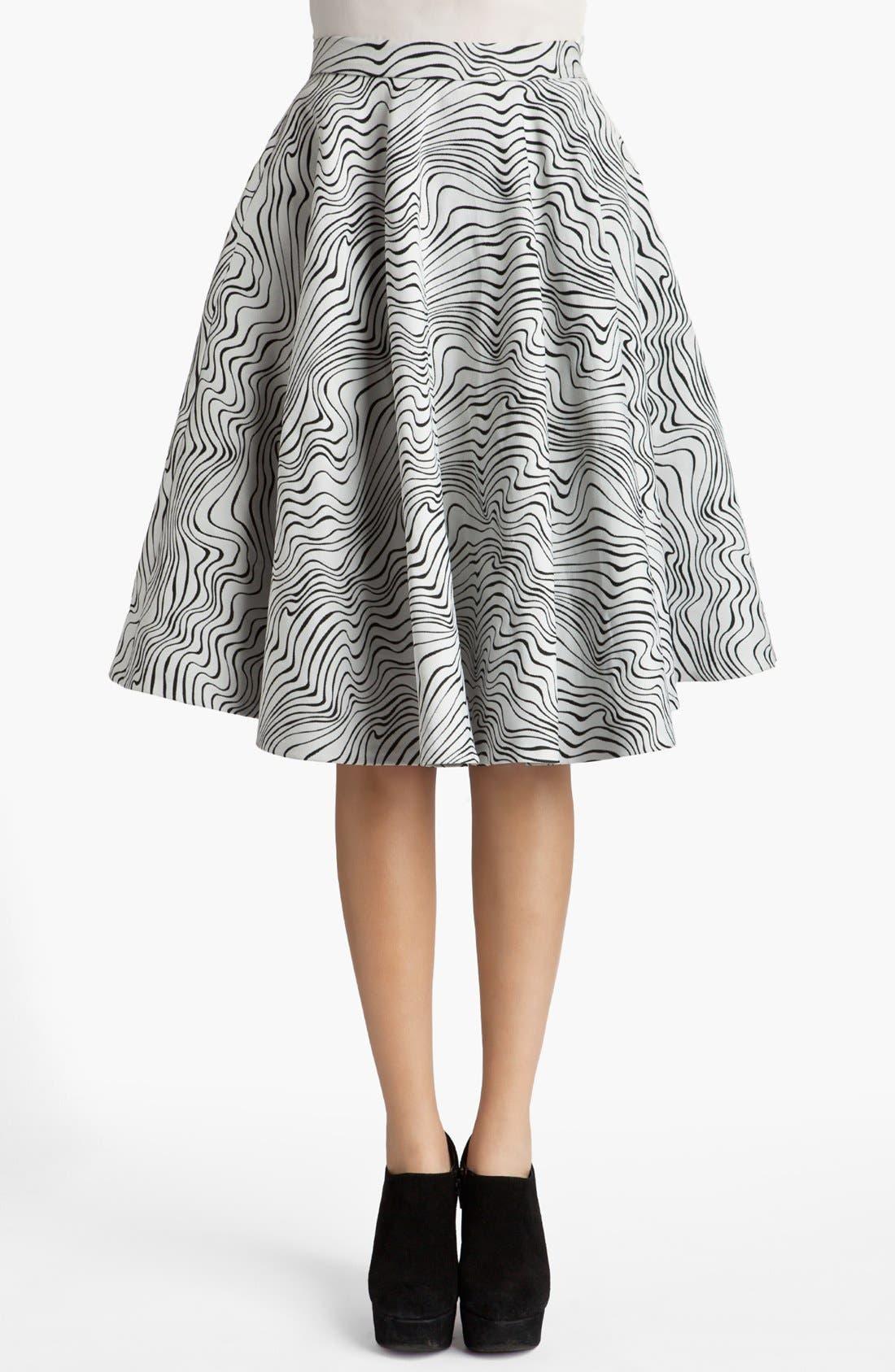 Main Image - MSGM 'Optical Wave' Full Skirt