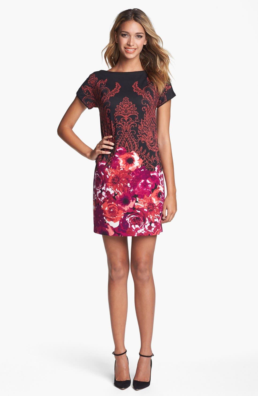Alternate Image 1 Selected - Maggy London Print Ponte Shift Dress