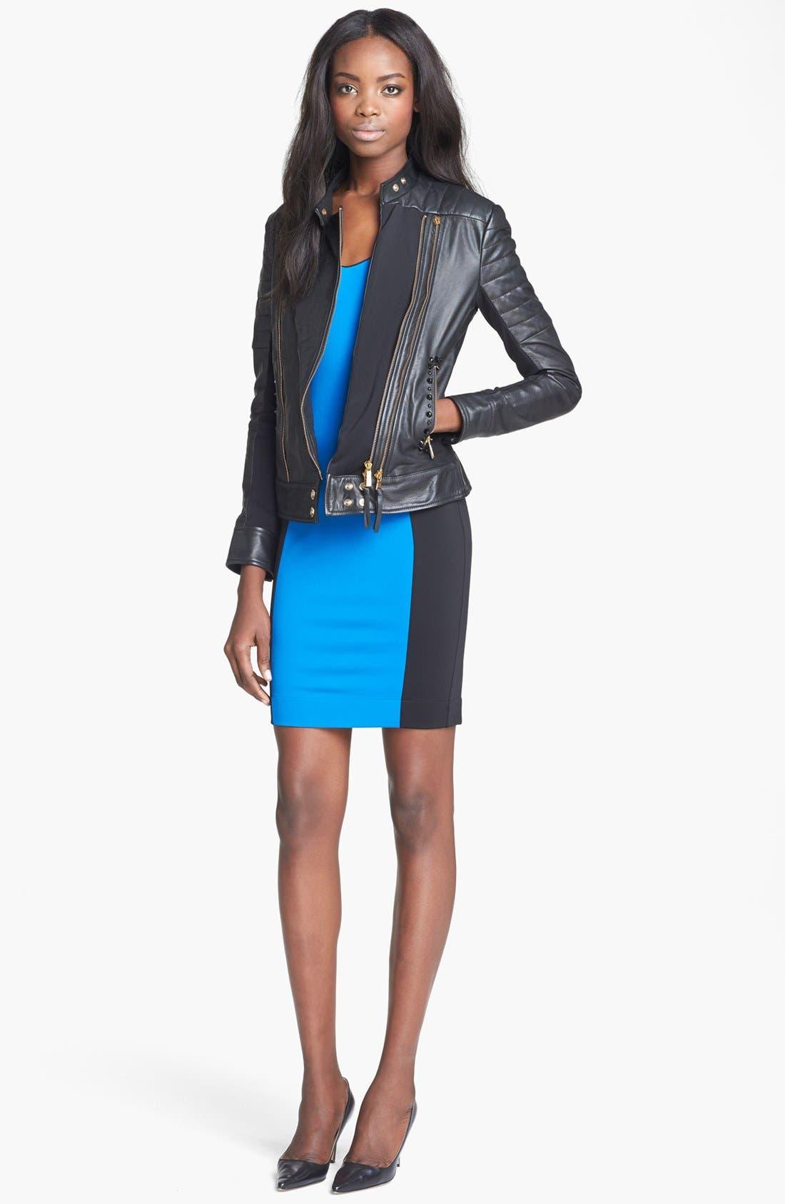 Alternate Image 2  - Just Cavalli Leather Moto Jacket