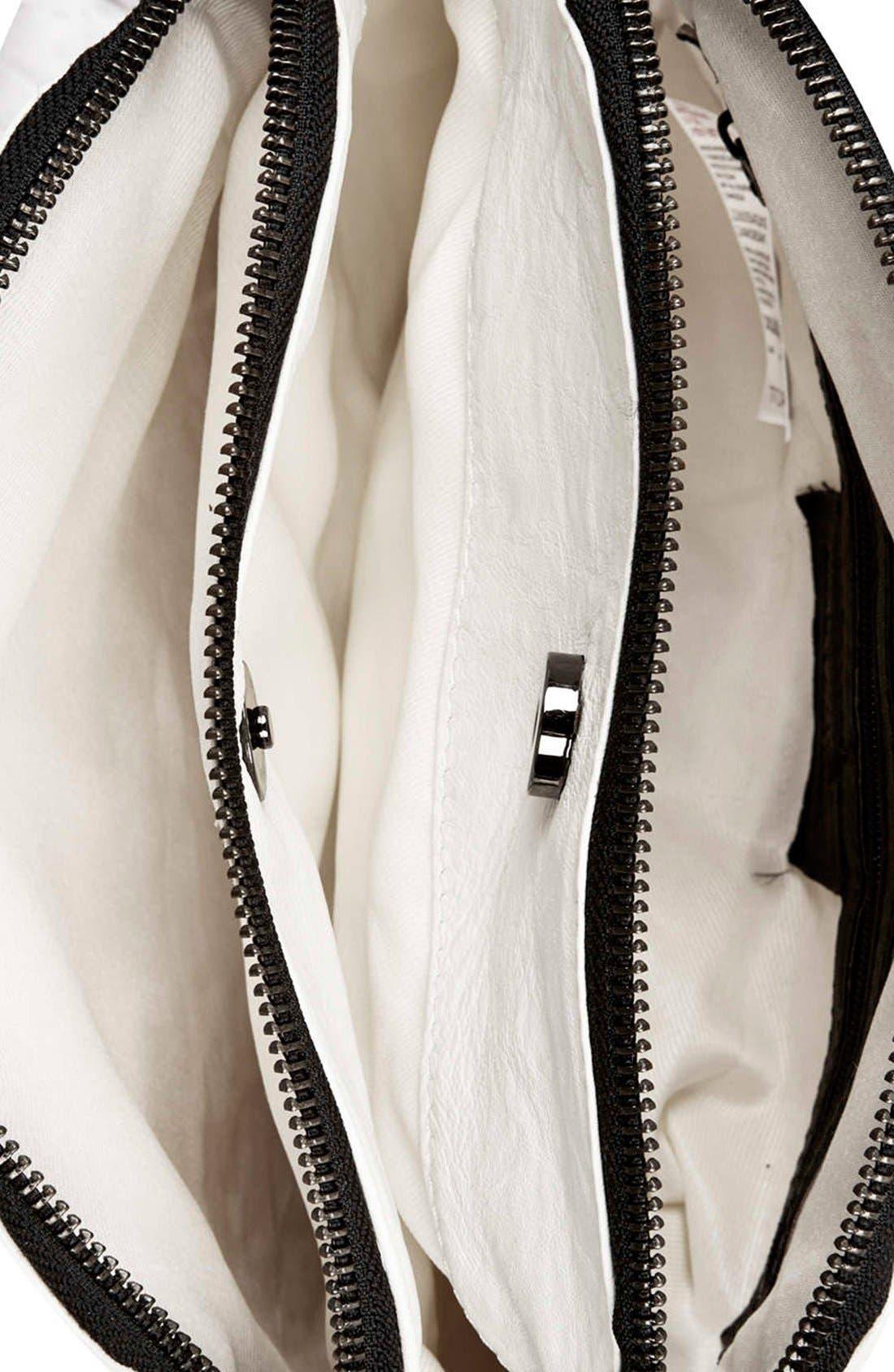 Alternate Image 3  - Topshop Double Zip Crossbody Bag