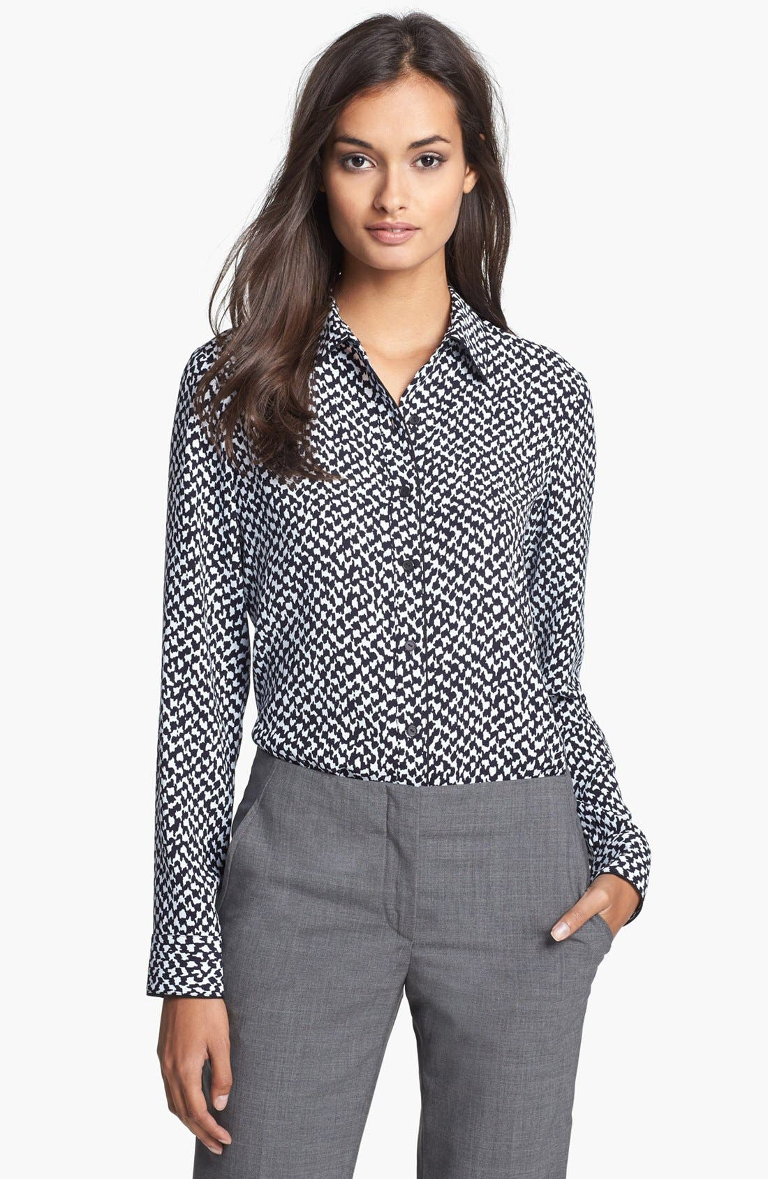 Alternate Image 1 Selected - Theory 'Cully' Print Shirt