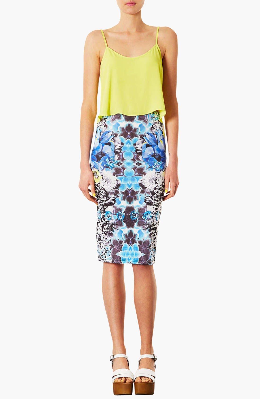 Alternate Image 2  - Topshop Graphic Print Tube Skirt