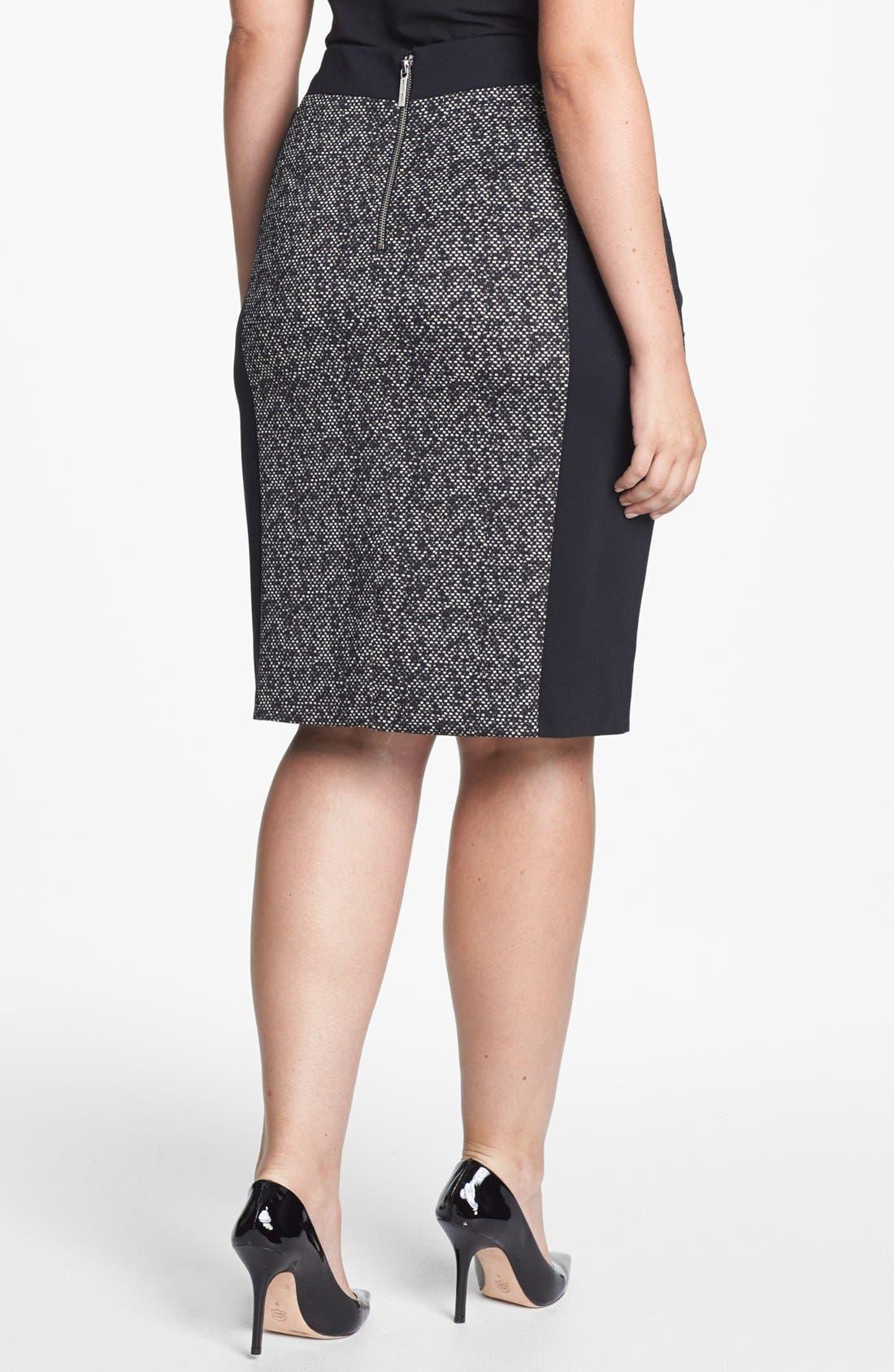 Alternate Image 2  - MICHAEL Michael Kors Colorblock Ponte Pencil Skirt (Plus Size)