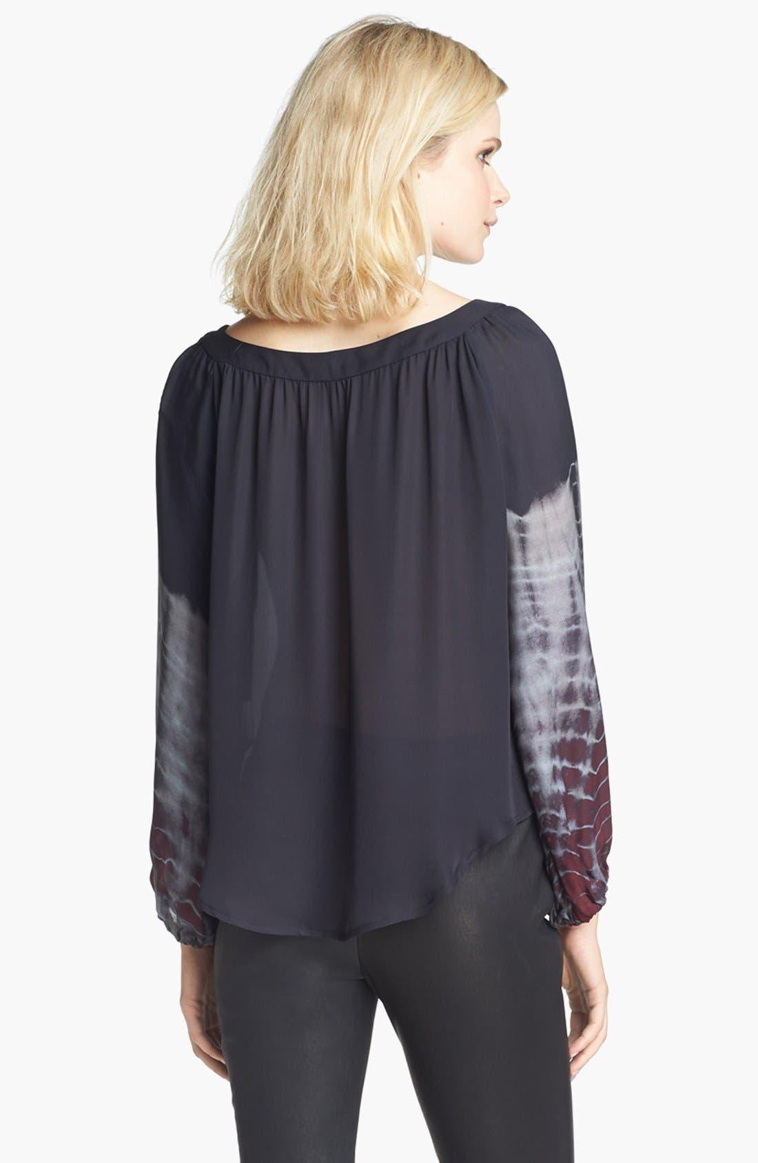 Alternate Image 3  - L'AGENCE Shirred Silk Blouse