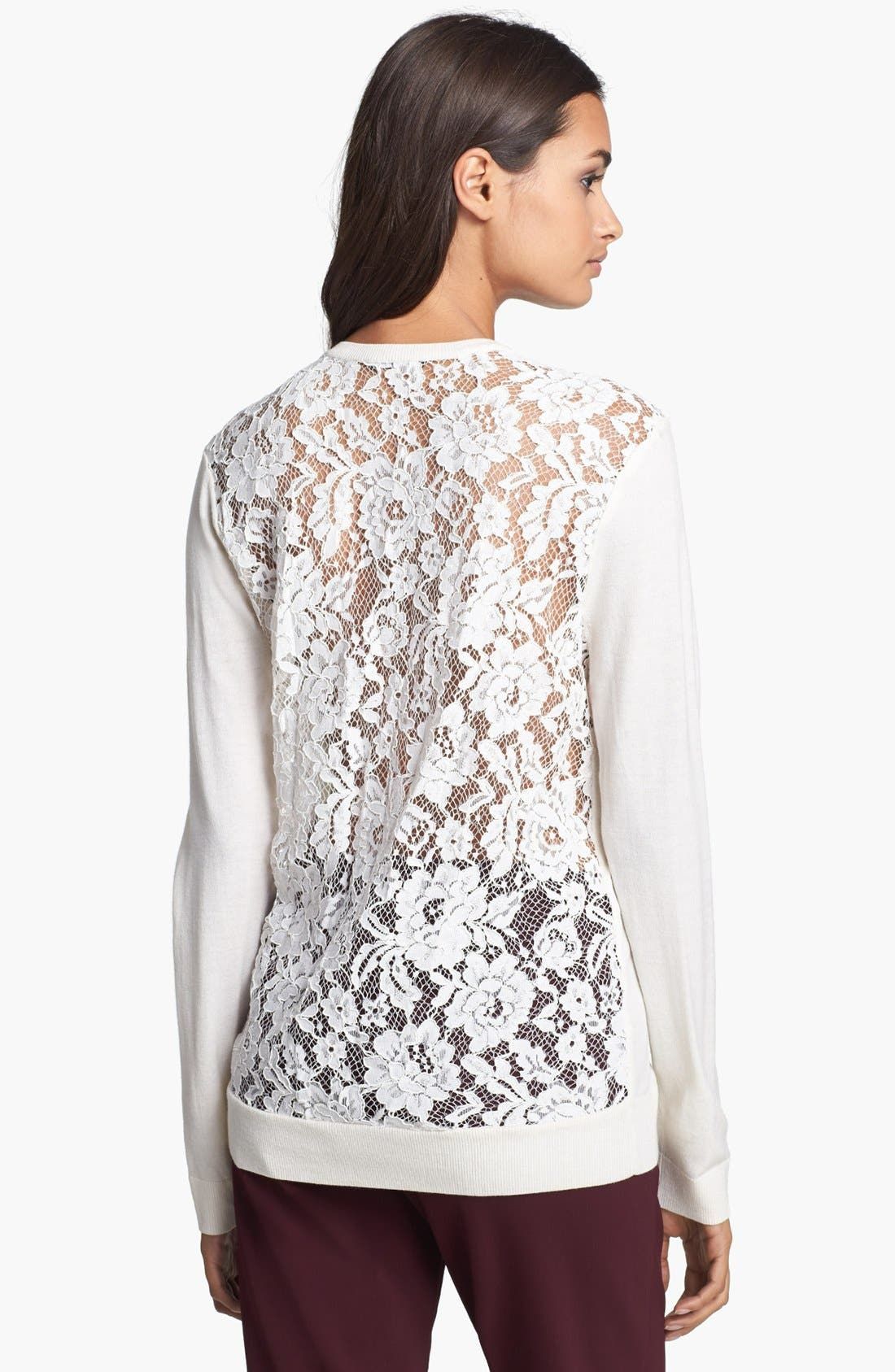 Alternate Image 2  - Theory 'Adrianna' Lace Back Sweater