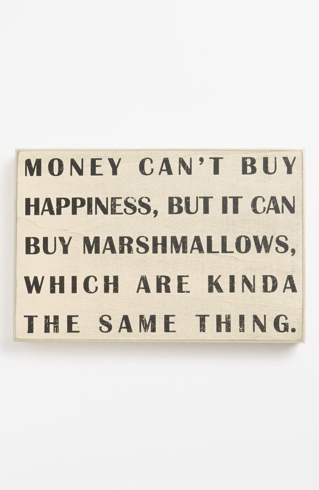 Alternate Image 1 Selected - Primitives by Kathy 'Money Can't Buy You Happiness' Box Sign