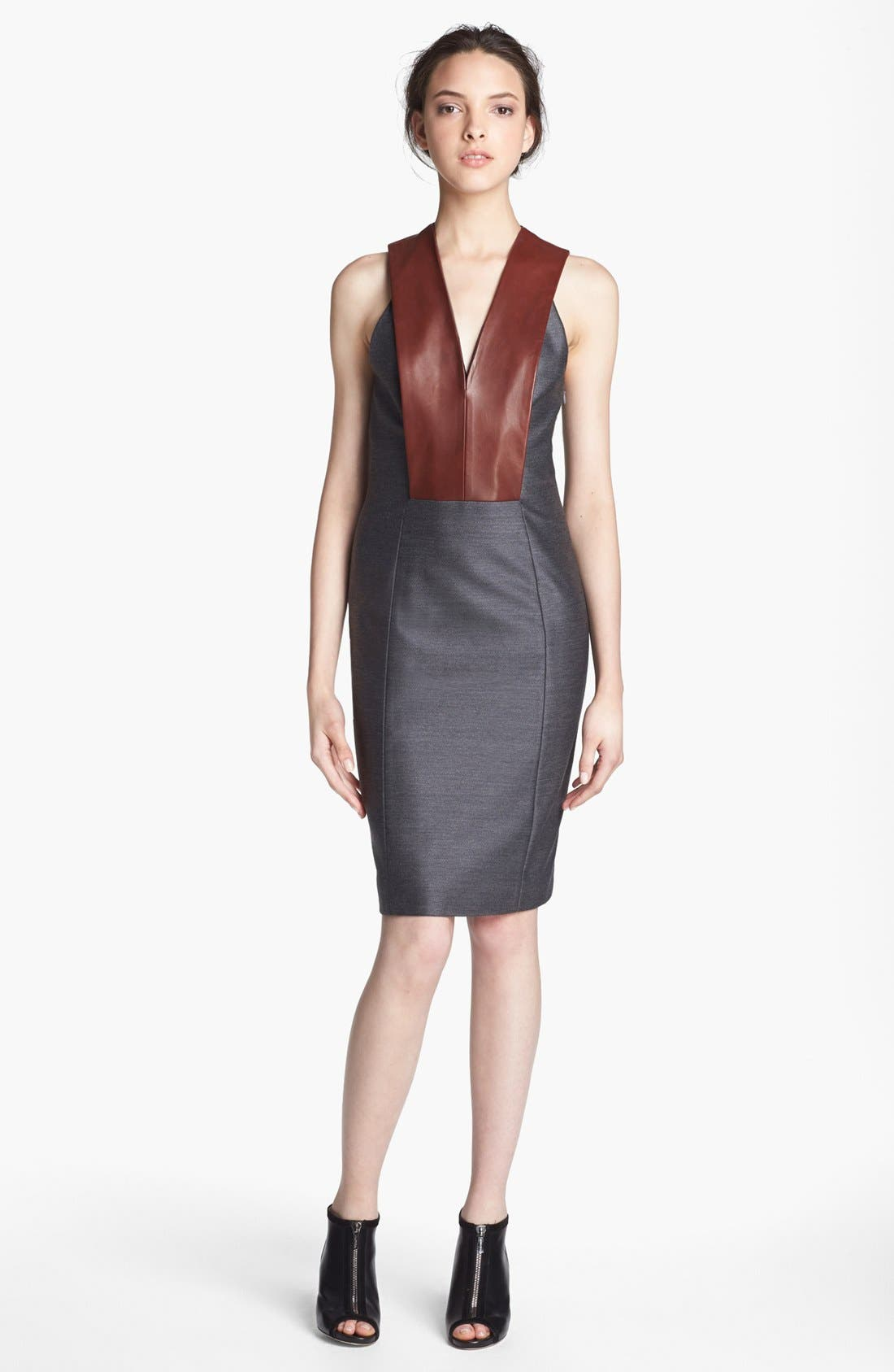 Alternate Image 1 Selected - Alexander Wang Leather Bib Dress