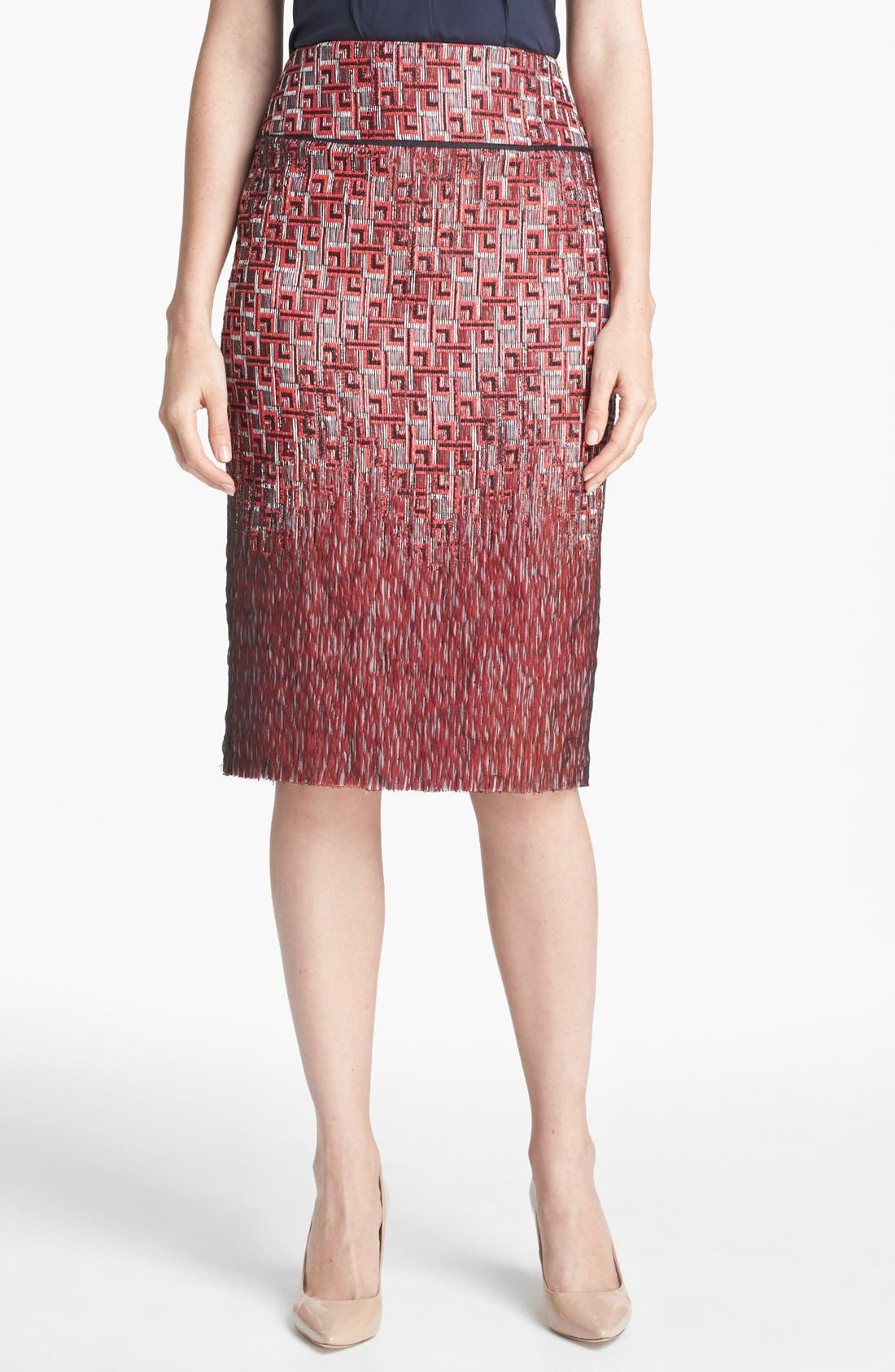 Main Image - Tory Burch 'Ruby' Jacquard Skirt