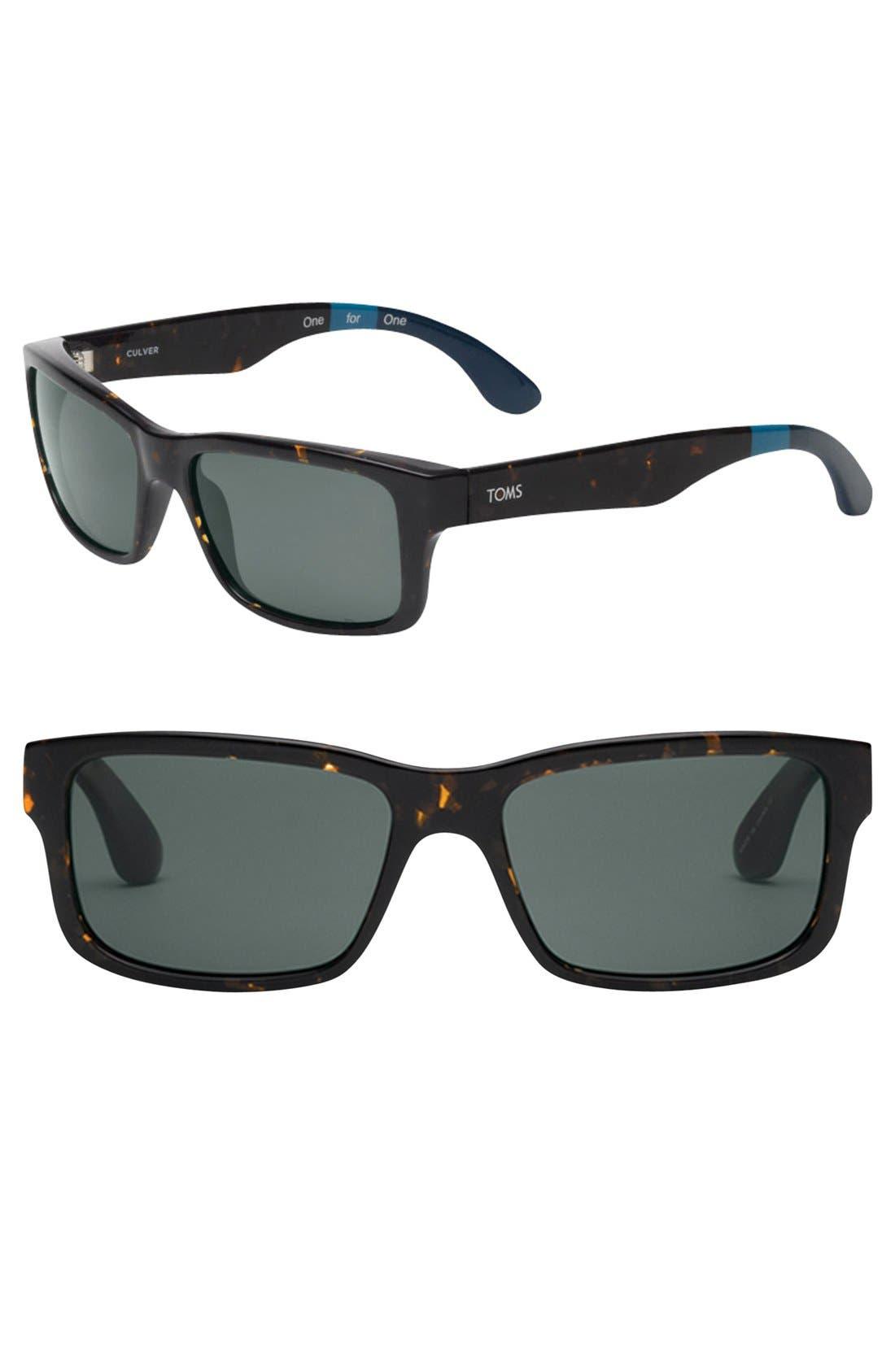Main Image - TOMS 'Culver' 56mm Polarized Sunglasses