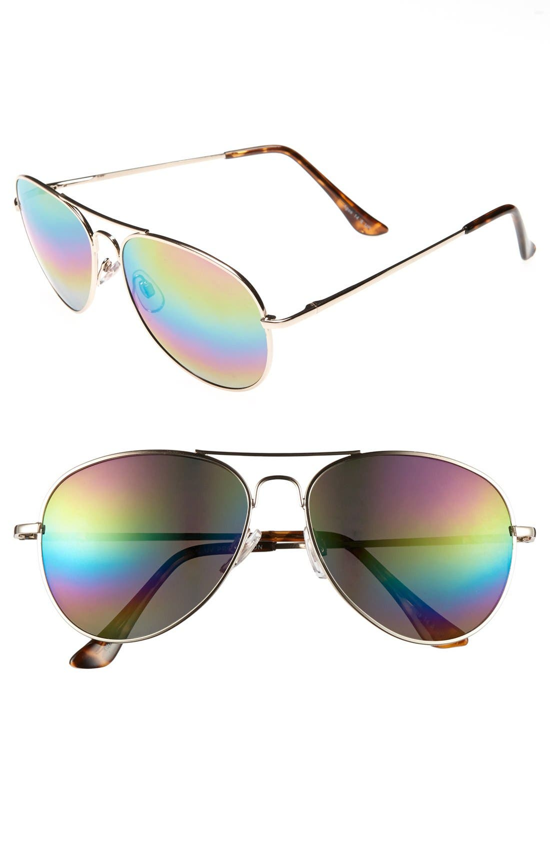 Main Image - Fantas Eyes 56mm Aviator Sunglasses (Juniors)